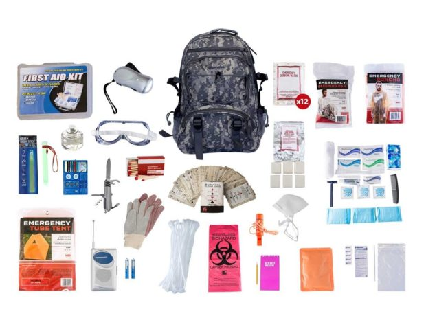 This is a one person kit, but Outbreak has kits designed for two people or four people- it all depends on your family size! (Photo via Outbreak Provisions)