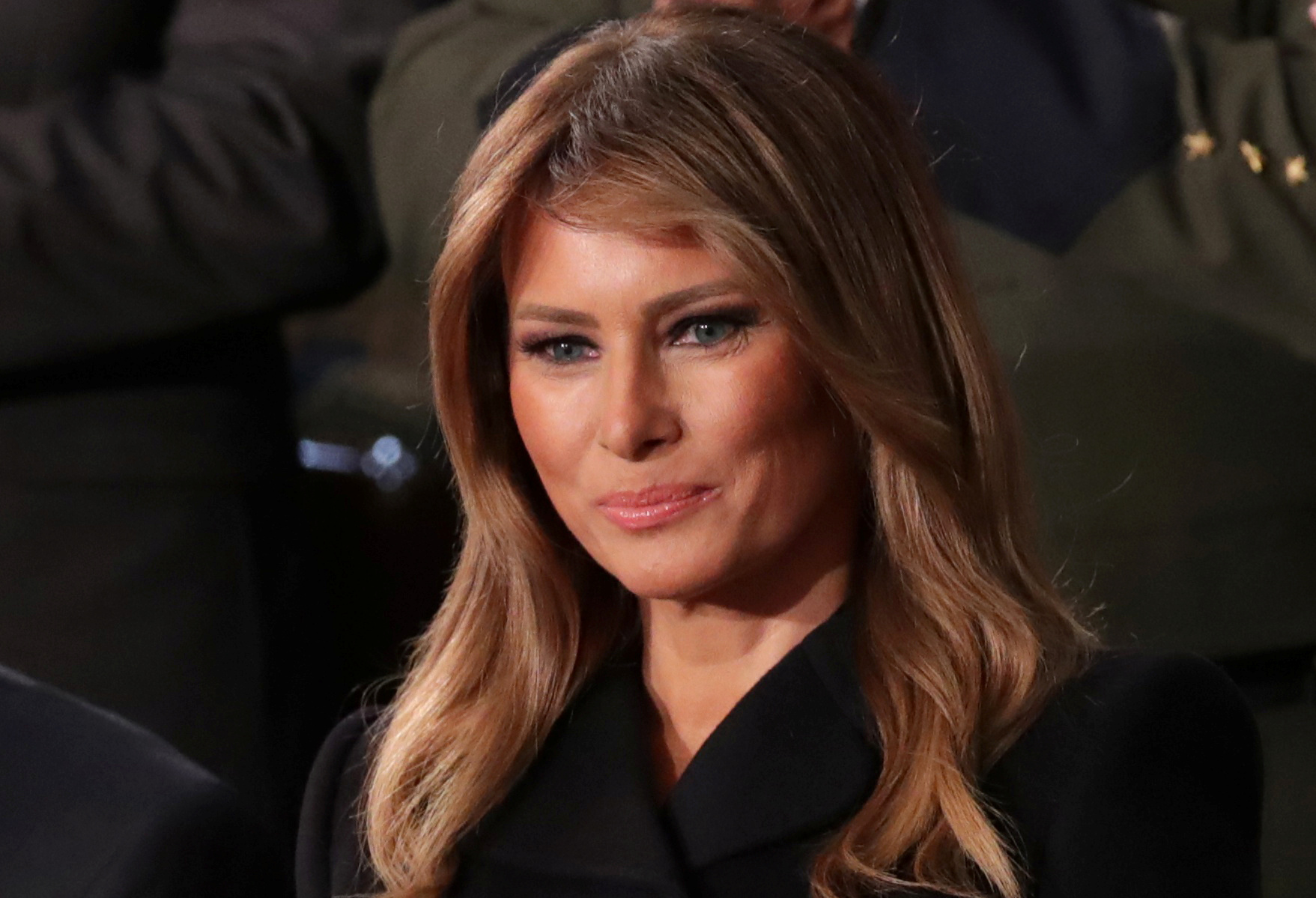 FILE PHOTO: First lady Melania Trump listens to U.S. President Donald Trump's State of the Union address to a joint session of the U.S. Congress in the House Chamber of the U.S. Capitol in Washington, U.S., Feb. 4, 2020. REUTERS/Jonathan Ernst/File Photo