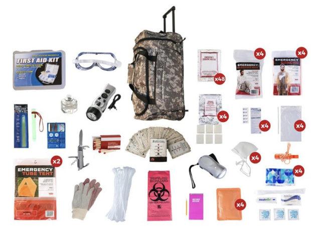 Four-Person 72 Hour Emergency Prep Kit(Photo via Outbreak)