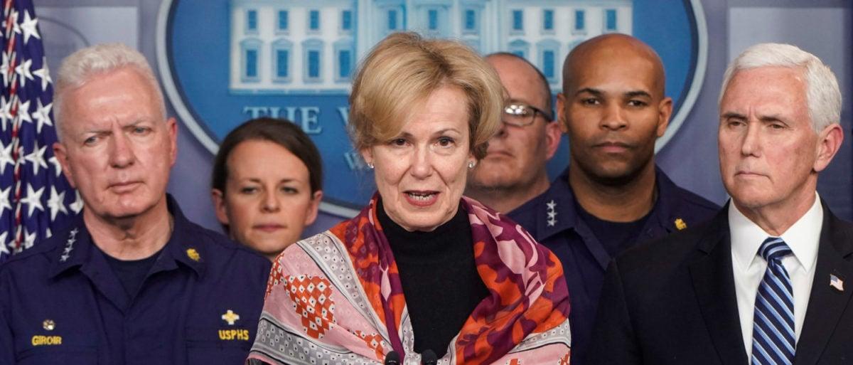 Deborah Birx, coronavirus response coordinator for the White House Coronavirus Task Force, speaks during a news briefing on the administration's response to the coronavirus at the White House in Washington, U.S., March 15, 2020. REUTERS/Joshua Roberts