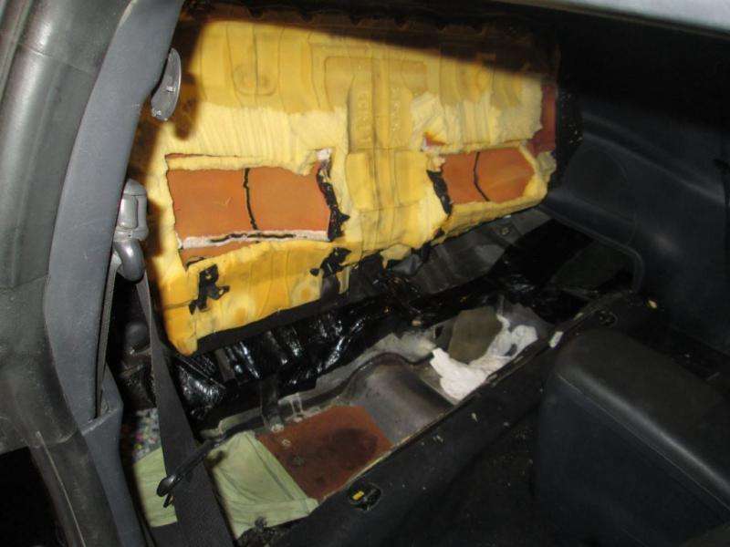 Compartment inside car seat. (3/9/2020)