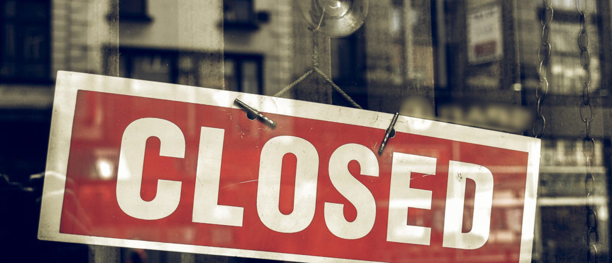 Closed Sign. Shutterstock