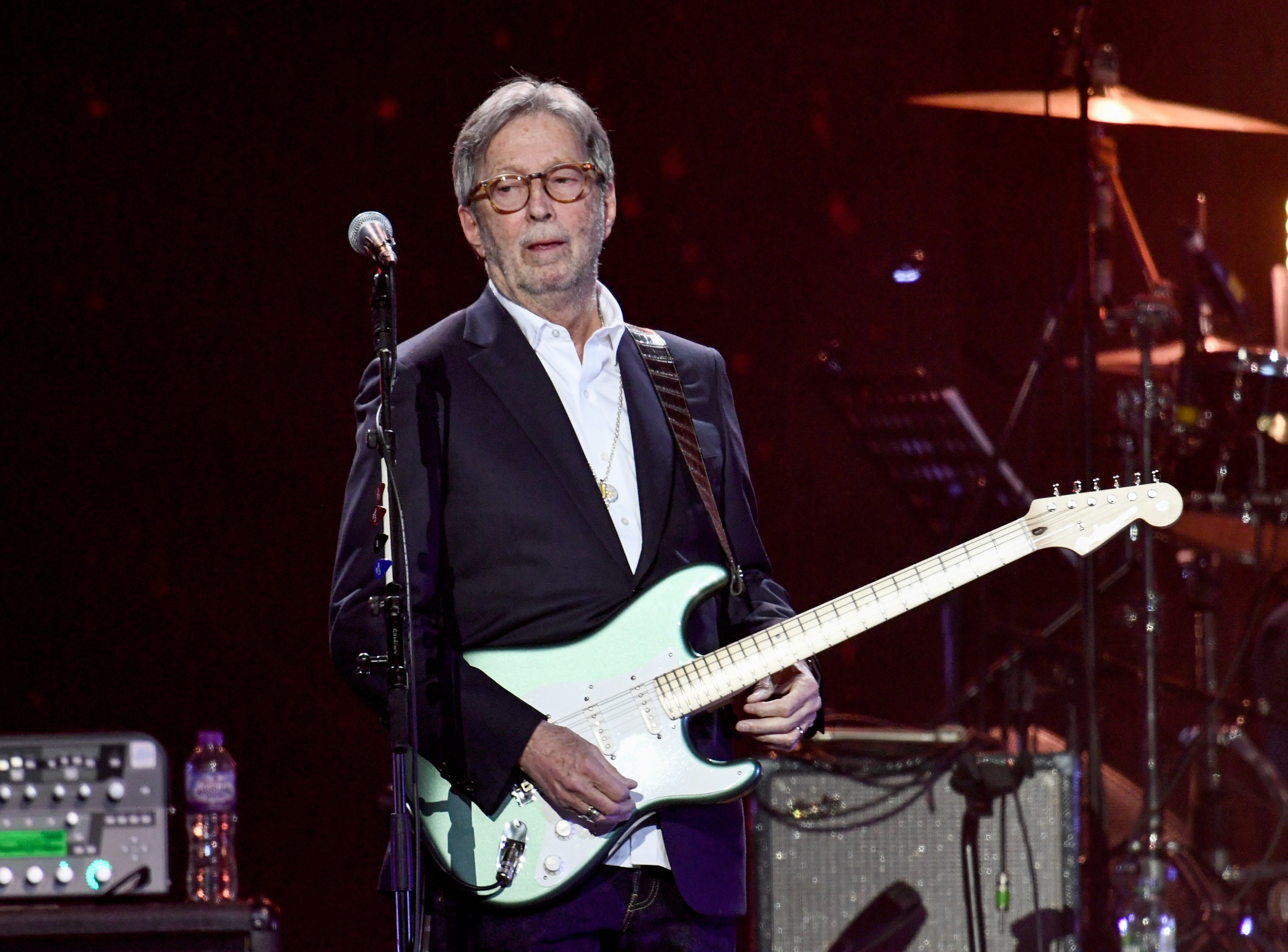 Eric Clapton performs on stage during Music For The Marsden 2020 at The O2 Arena on March 03, 2020 in London, England. (Photo by Gareth Cattermole/Gareth Cattermole/Getty Images)
