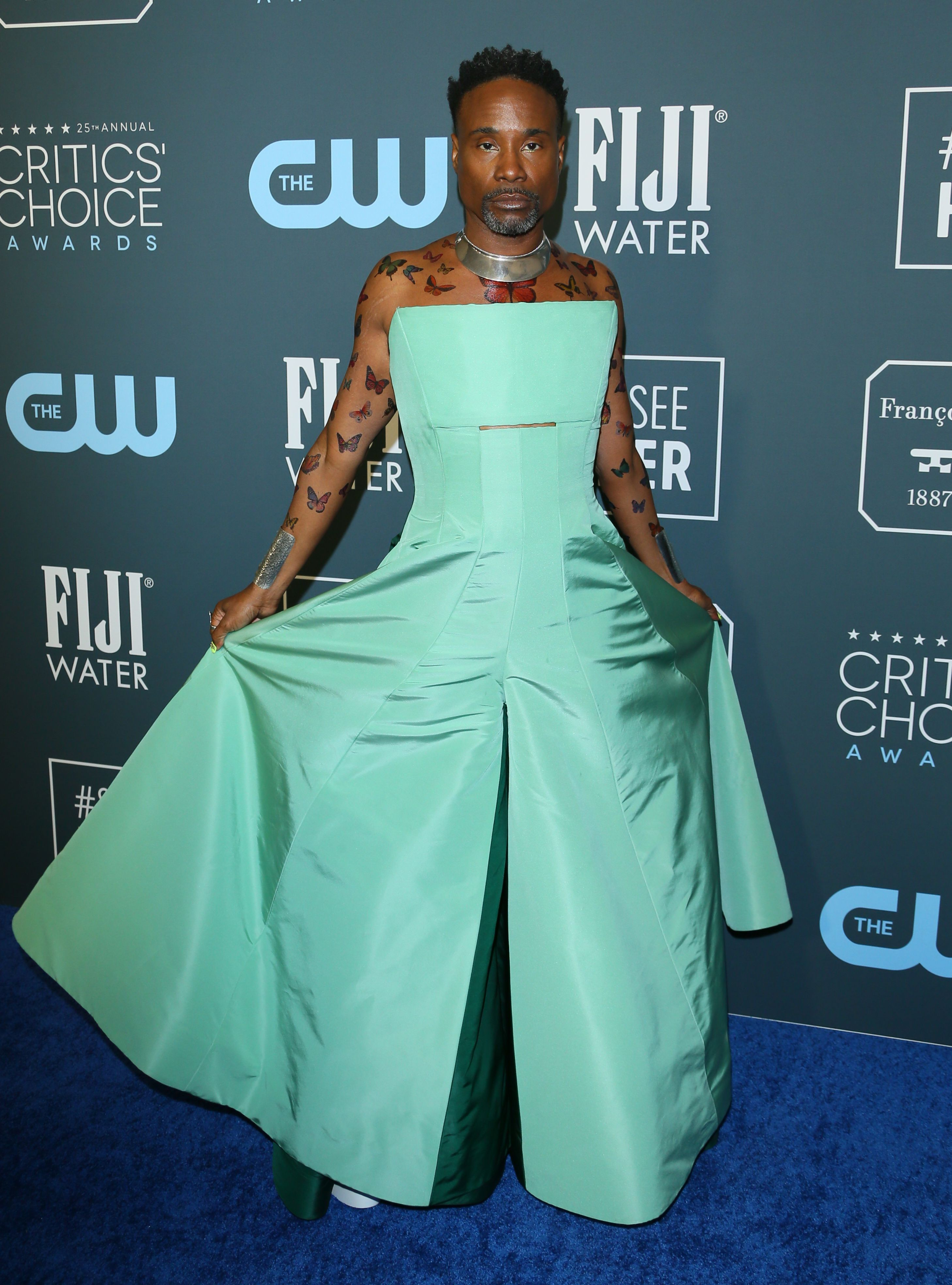 Billy Porter arrives for the 25th Annual Critics' Choice Awards at Barker Hangar Santa Monica airport on January 12, 2020 (Photo by JEAN-BAPTISTE LACROIX/AFP via Getty Images)
