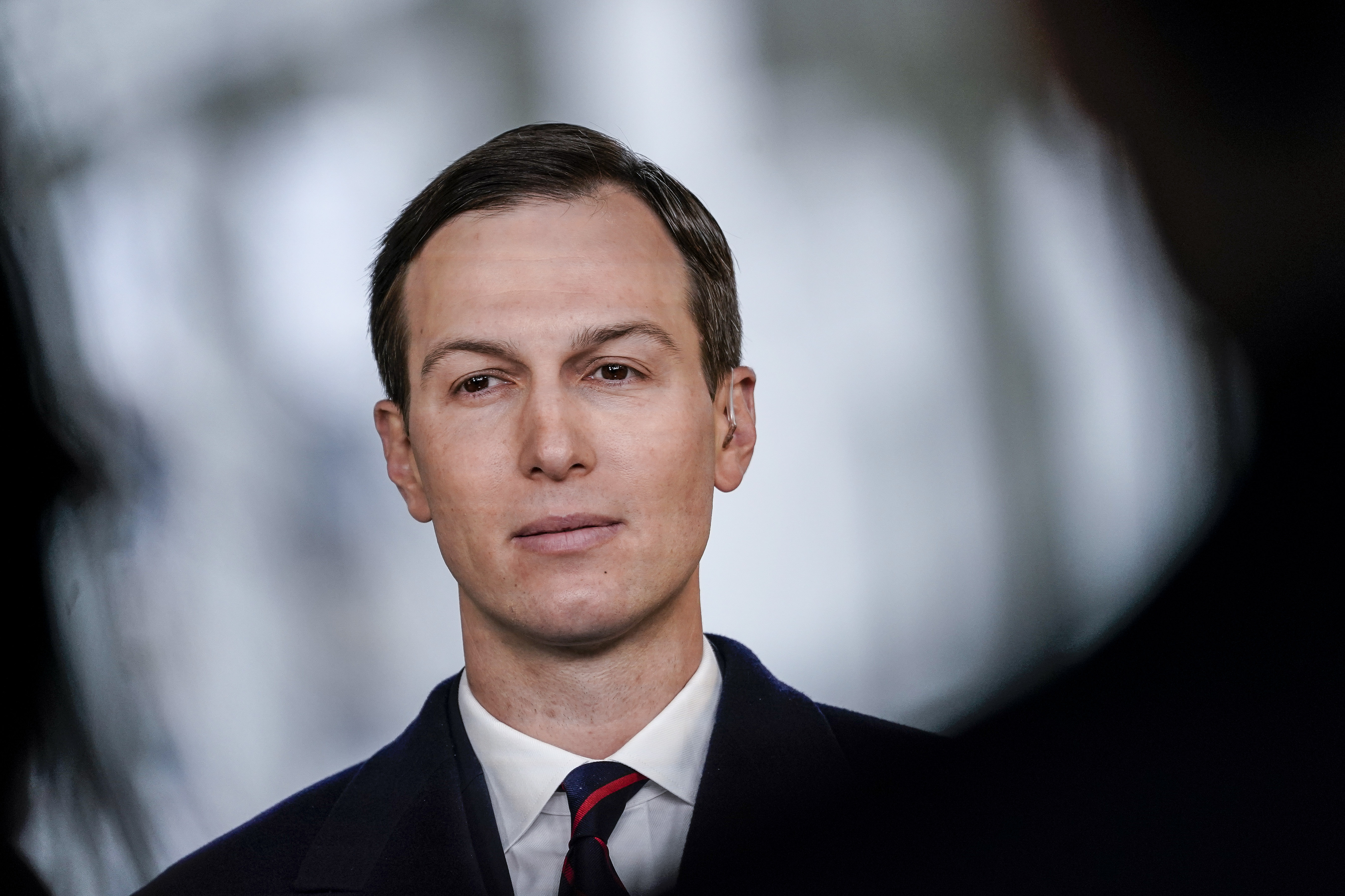 WASHINGTON, DC - JANUARY 29: Jared Kushner, Senior Advisor to President Donald Trump, stands for a television interview on FOX News outside the White House on January 29, 2020 in Washington, DC. Yesterday, President Trump released details of his administration's long-awaited Middle East peace plan to resolve the Israeli-Palestinian conflict, which was spearheaded by Kushner. (Photo by Drew Angerer/Getty Images)