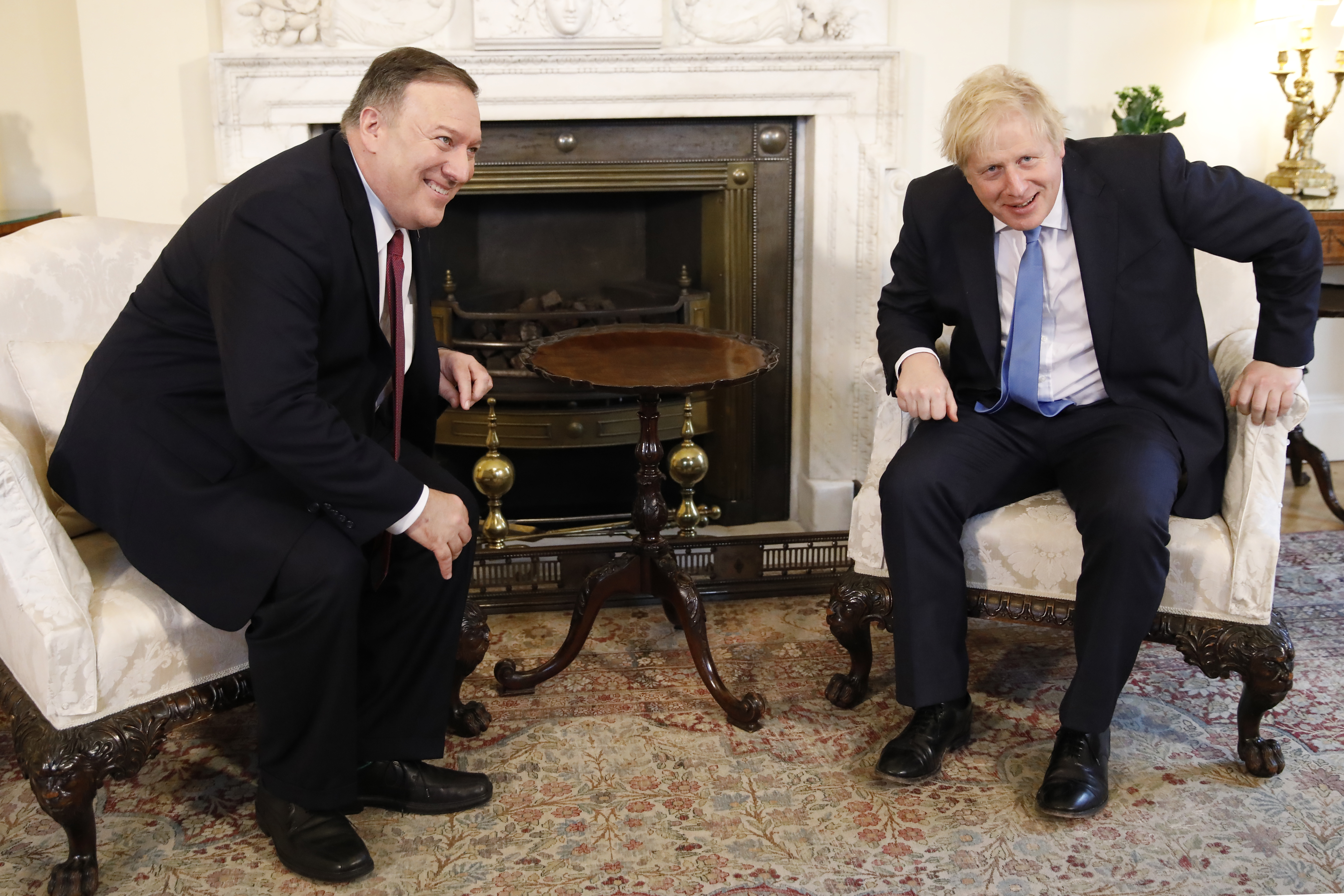 The U.S. Secretary of State Mike Pompeo on a two-day visit to the U.K to discuss a number of issues including the role of Huawei in British 5G Networks (Photo by Tolga Akmen– WPA Pool/Getty Images)