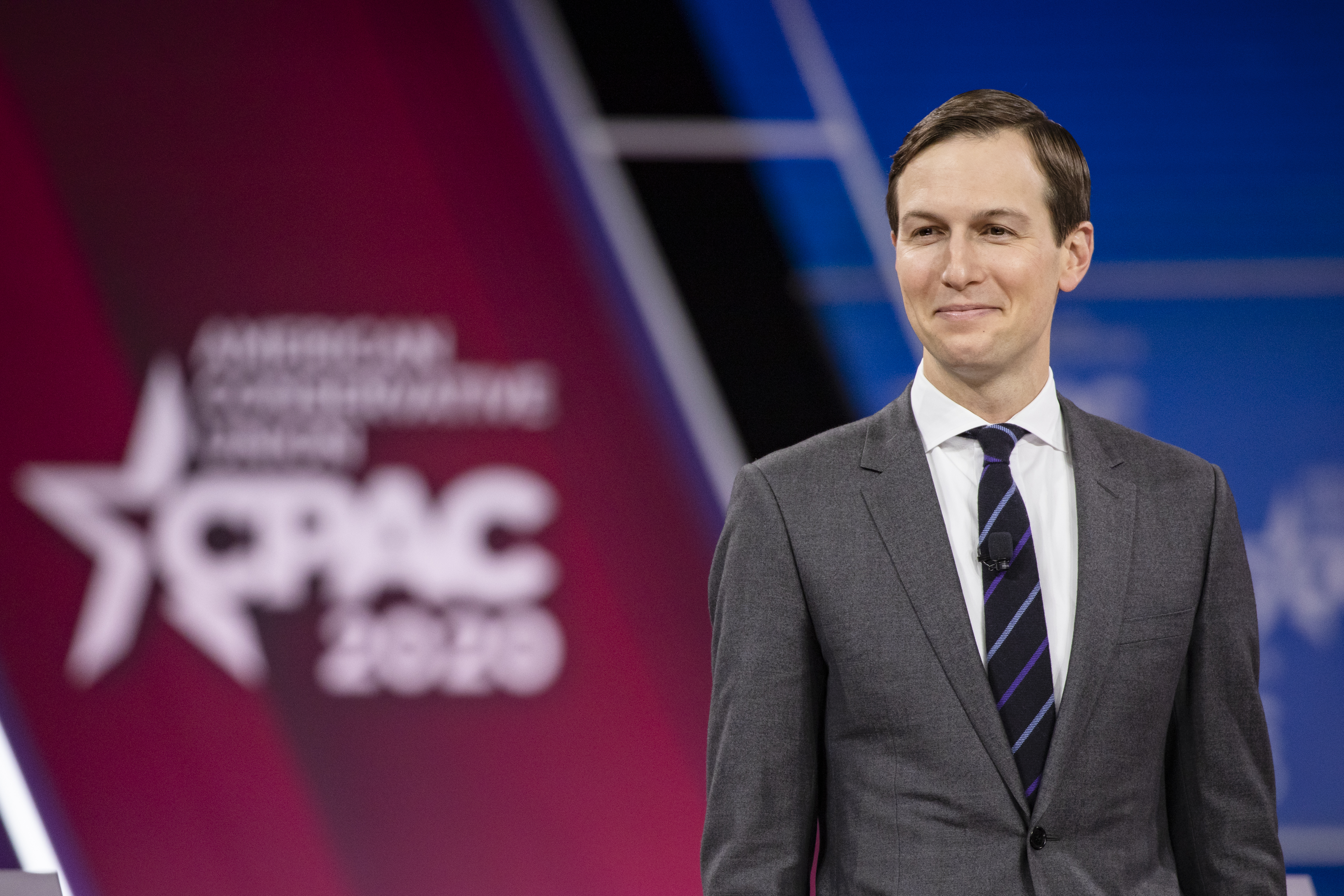 NATIONAL HARBOR, MD - FEBRUARY 28: Jared Kushner, senior advisor to U.S. President Donald Trump, speaks at the Conservative Political Action Conference 2020 (CPAC) hosted by the American Conservative Union on February 28, 2020 in National Harbor, MD. (Photo by Samuel Corum/Getty Images)