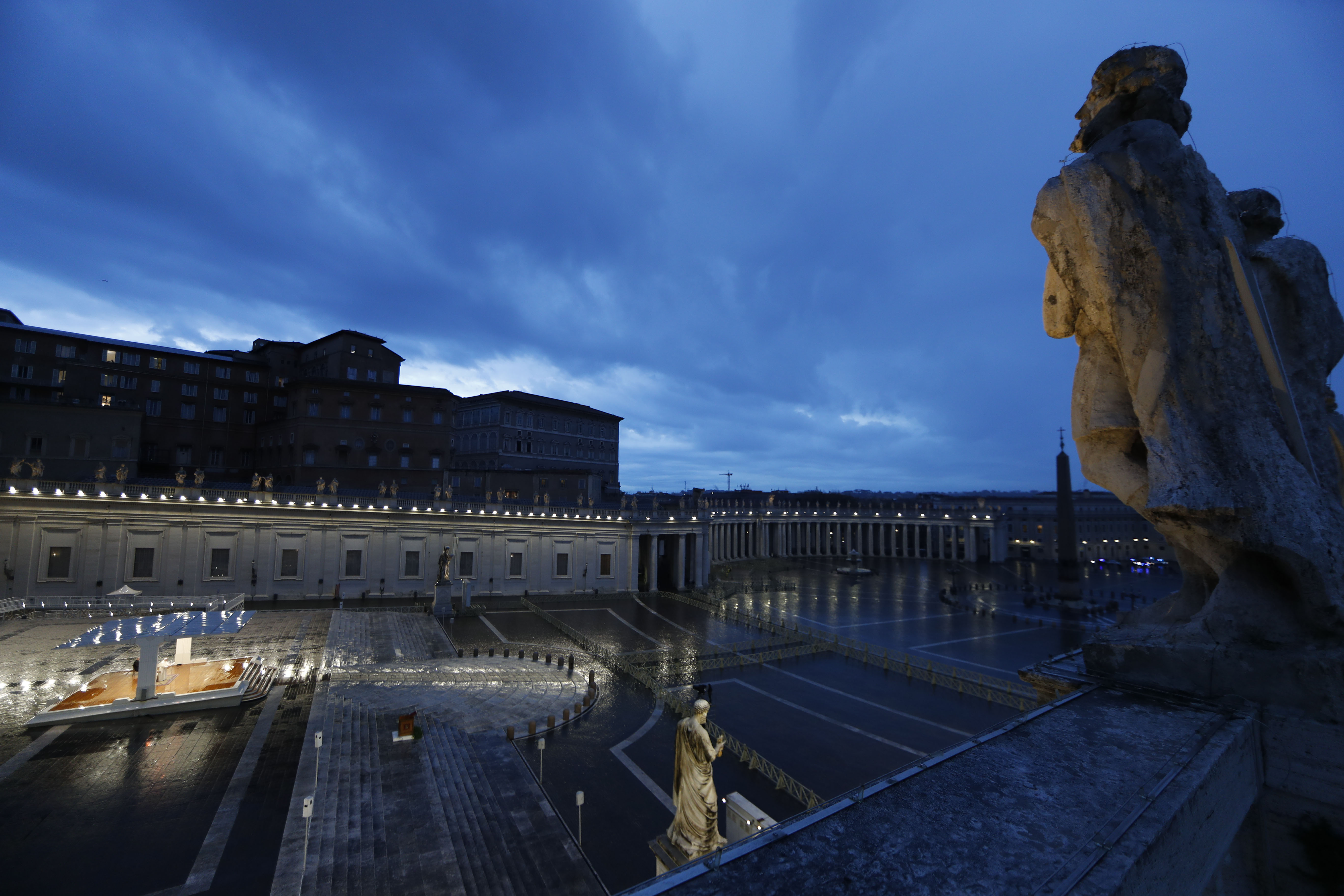 St. Peter's Square, March 27 2020. (Photo by YARA NARDI/POOL/AFP via Getty Images)