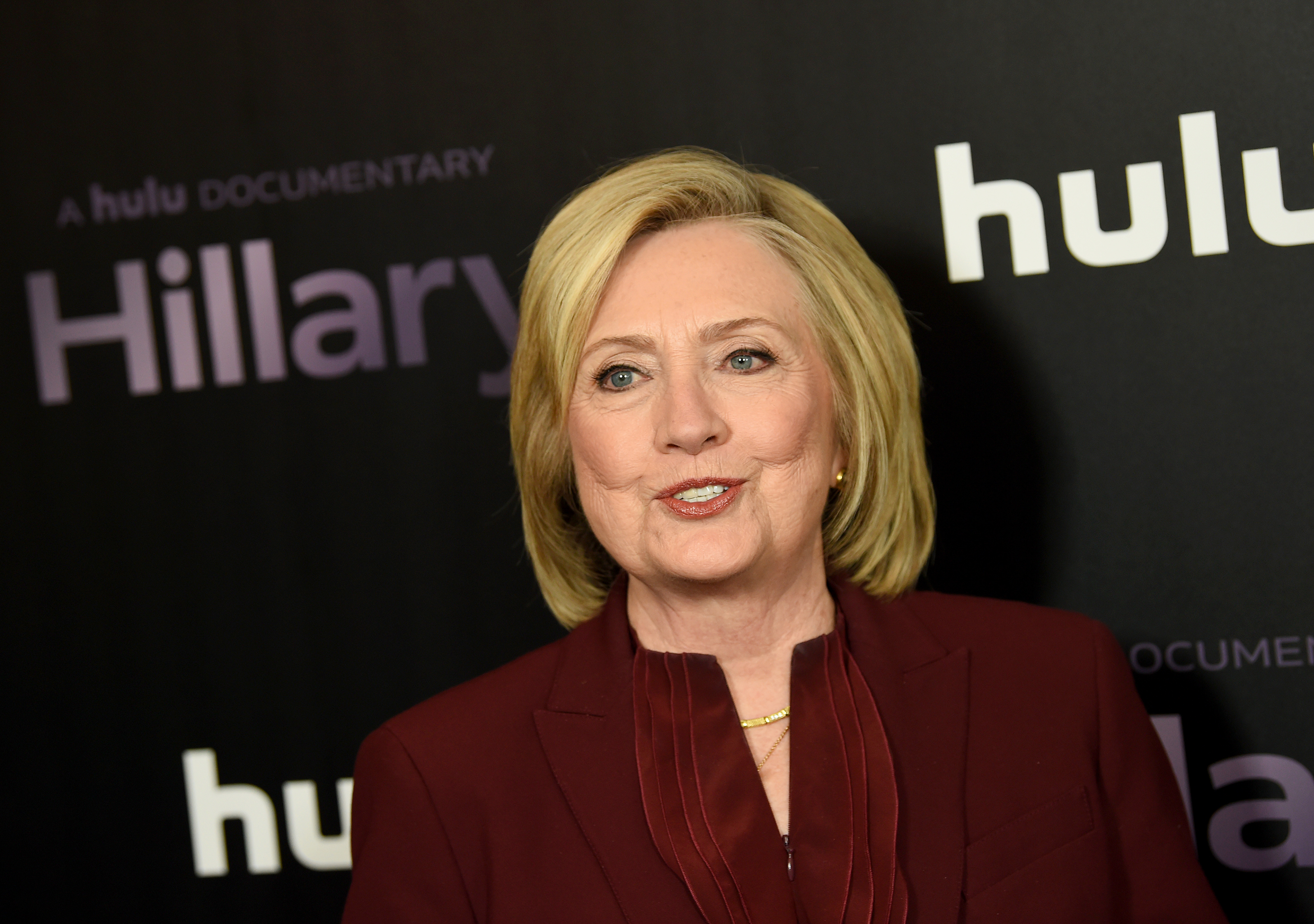 "NEW YORK, NEW YORK - MARCH 04: Hillary Clinton attends the ""Hillary"" New York Premiere at Directors Guild of America Theater on March 04, 2020 in New York City. (Photo by Dimitrios Kambouris/Getty Images)"