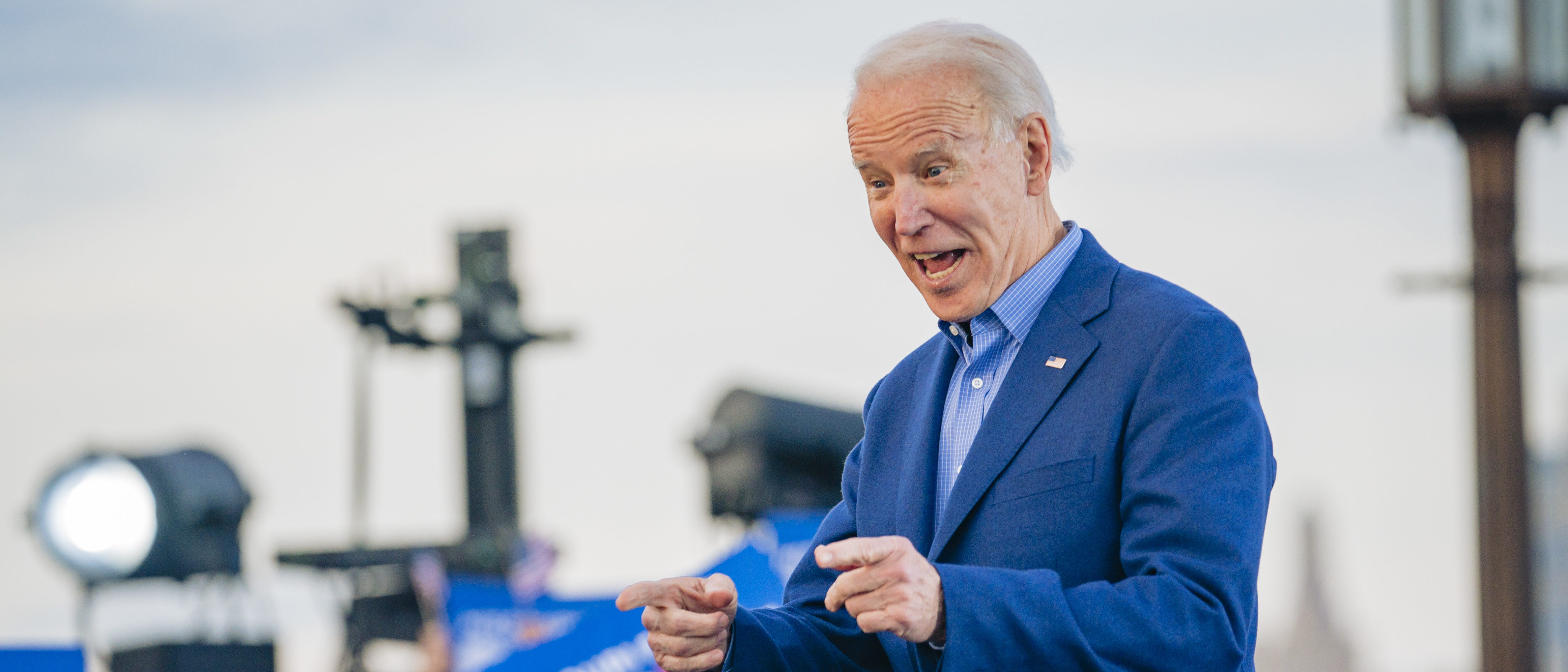 KANSAS CITY, MO - MARCH 07: Democratic Presidential Candidate former Vice President Joe Biden speaks to a full crowd during the Joe Biden Campaign Rally at the National World War I Museum and Memorial on March 7, 2020 in Kansas City, Missouri. (Photo by Kyle Rivas/Getty Images)