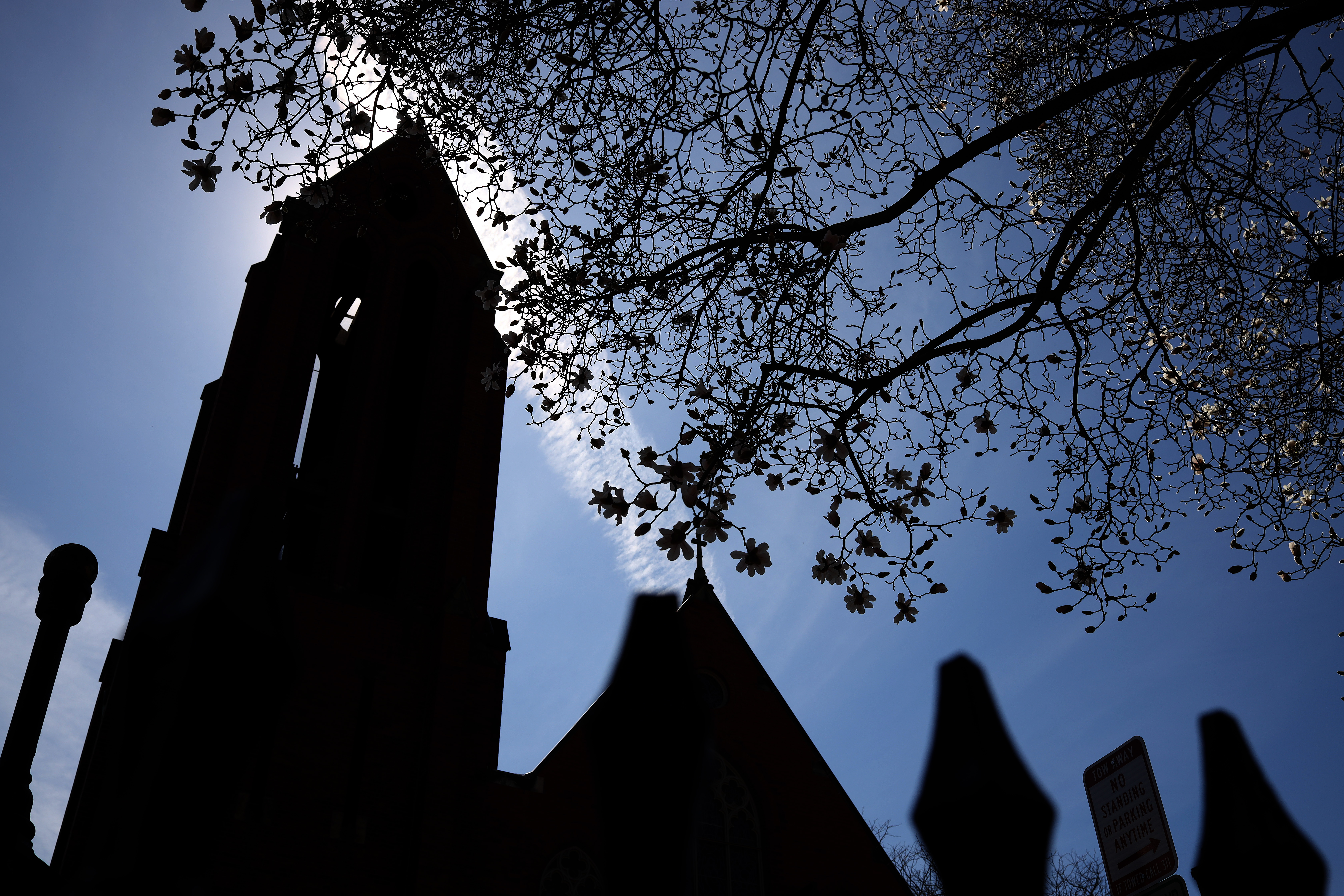 WASHINGTON, DC - MARCH 09: Christ Episcopal Church Georgetown is shown March 09, 2020 in Washington, DC. Members of the congregation have been asked to self-quarantine following possible exposure to the Rev. Timothy Cole, the church rector and the first known coronavirus patient in the nation's capital. (Photo by Win McNamee/Getty Images)