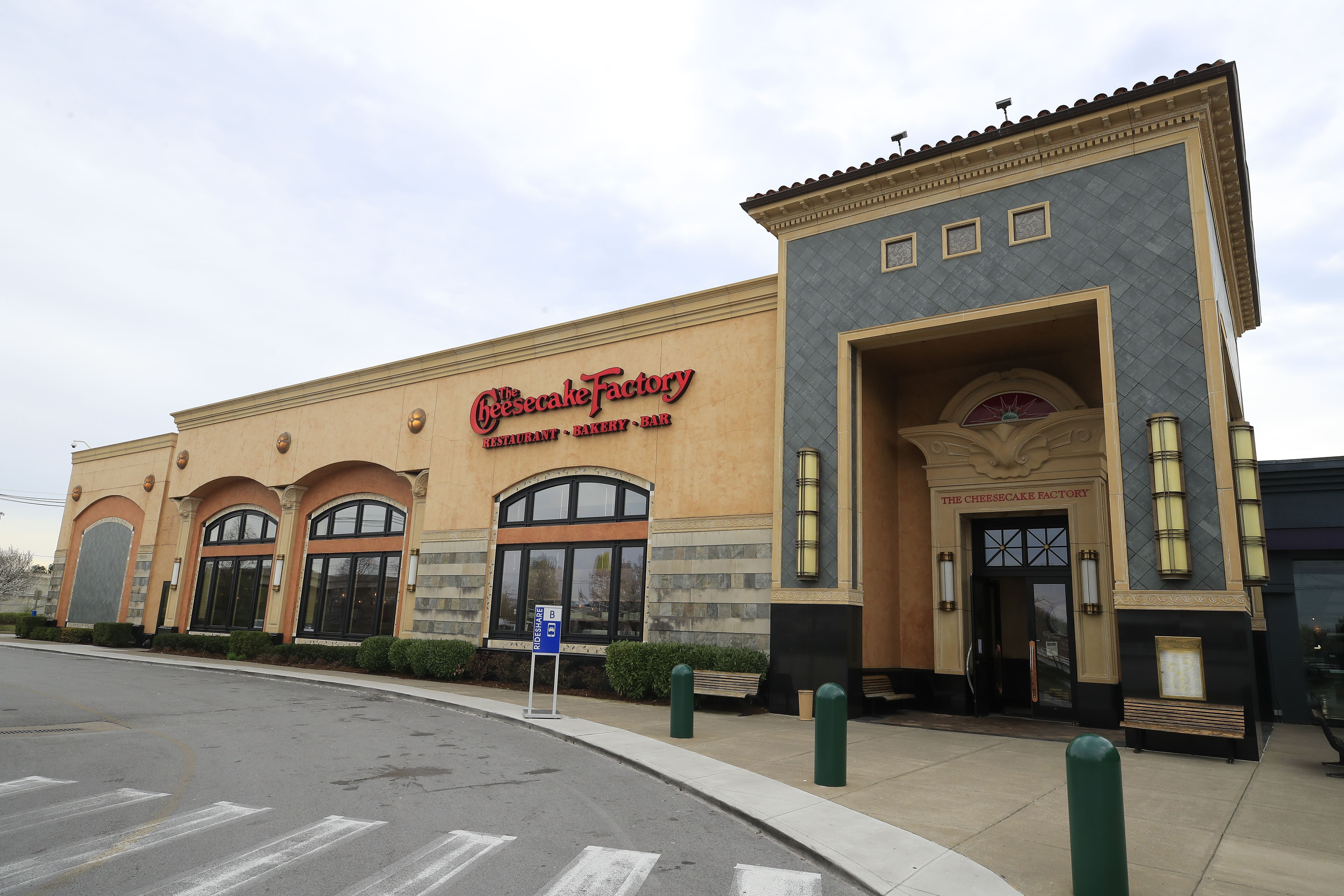 LOUISVILLE, KENTUCKY - MARCH 26: A Cheesecake Factory restaurant is operating on March 26, 2020 in Louisville, Kentucky. The restaurant chain has announced that it will not be able to pay its rent starting to April 1 due to how the COVID-19 crisis has affected its business. (Photo by Andy Lyons/Getty Images)
