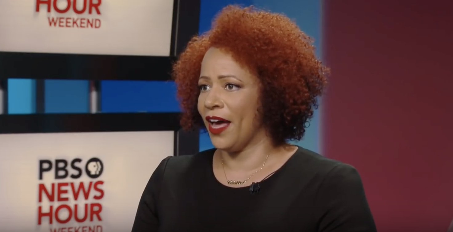 """Lead reporter on the NYT """"1619 Project"""" Nikole Hannah-Jones spoke about the project on PBS in August 2019. (Screenshot YouTube PBS NewsHour, https://www.youtube.com/watch?v=Q14BTdS6BRc)"""