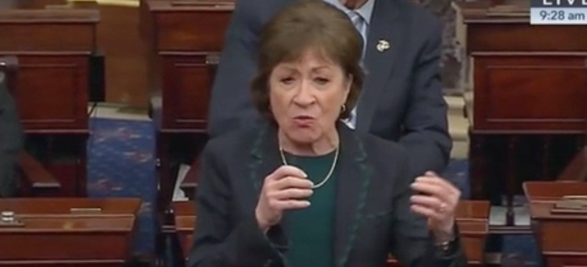 'Is That What We've Come To?': Susan Collins Unloads On Senate Democrats For Blocking Coronavirus Deal