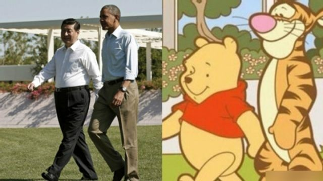 Xi and Obama are compared to Pooh and Tigger. (Weibo/unknown user)