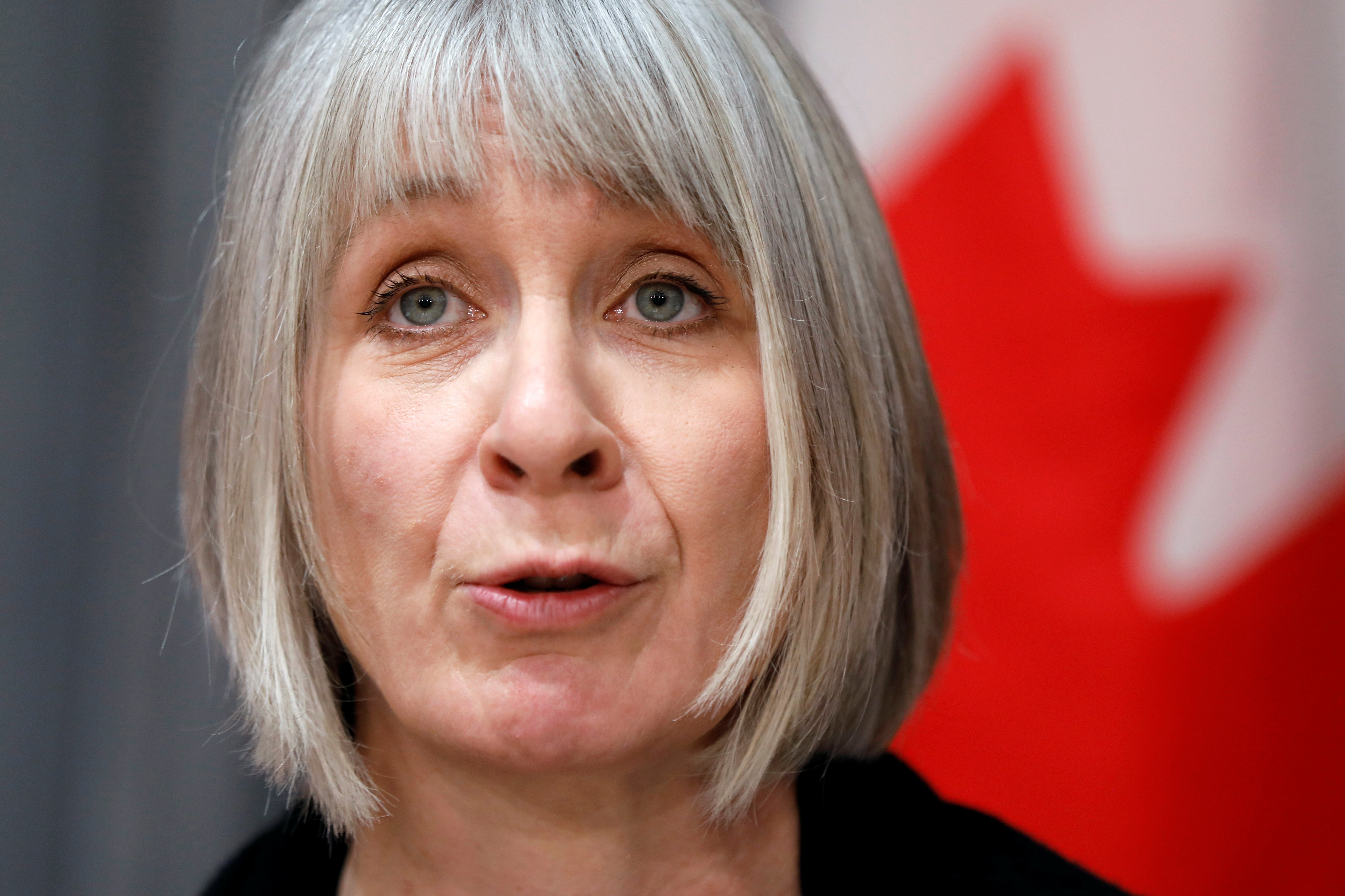 Canada's Minister of Health Patty Hajdu attends a news conference as efforts continue to help slow the spread of coronavirus disease (COVID-19) in Ottawa, Ontario, Canada March 23, 2020. REUTERS/Blair Gable