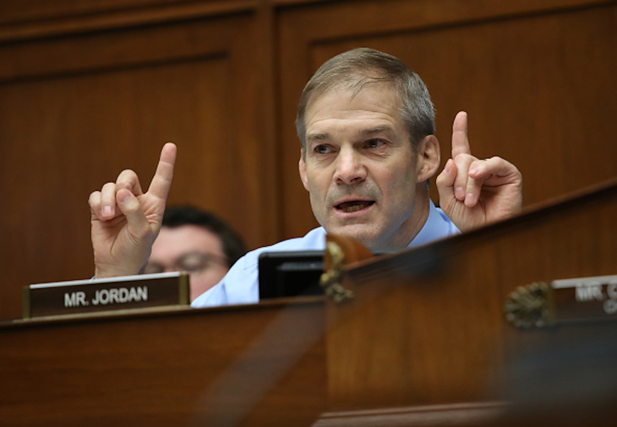 Rep. Jim Jordan (R-OH) during a House Oversight and Reform Committee hearing July 18, 2019. (Win McNamee/Getty Images)