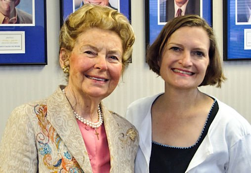 Schlafly and daughter Anne Schlafly Cori in 2014. Photo courtesy of Eagle Forum.