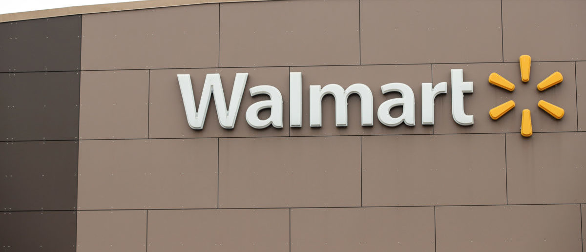 Walmart's logo is seen outside one of the stores ahead of the Thanksgiving holiday in Chicago, Illinois, U.S. November 27, 2019. [REUTERS/Kamil Krzaczynski]