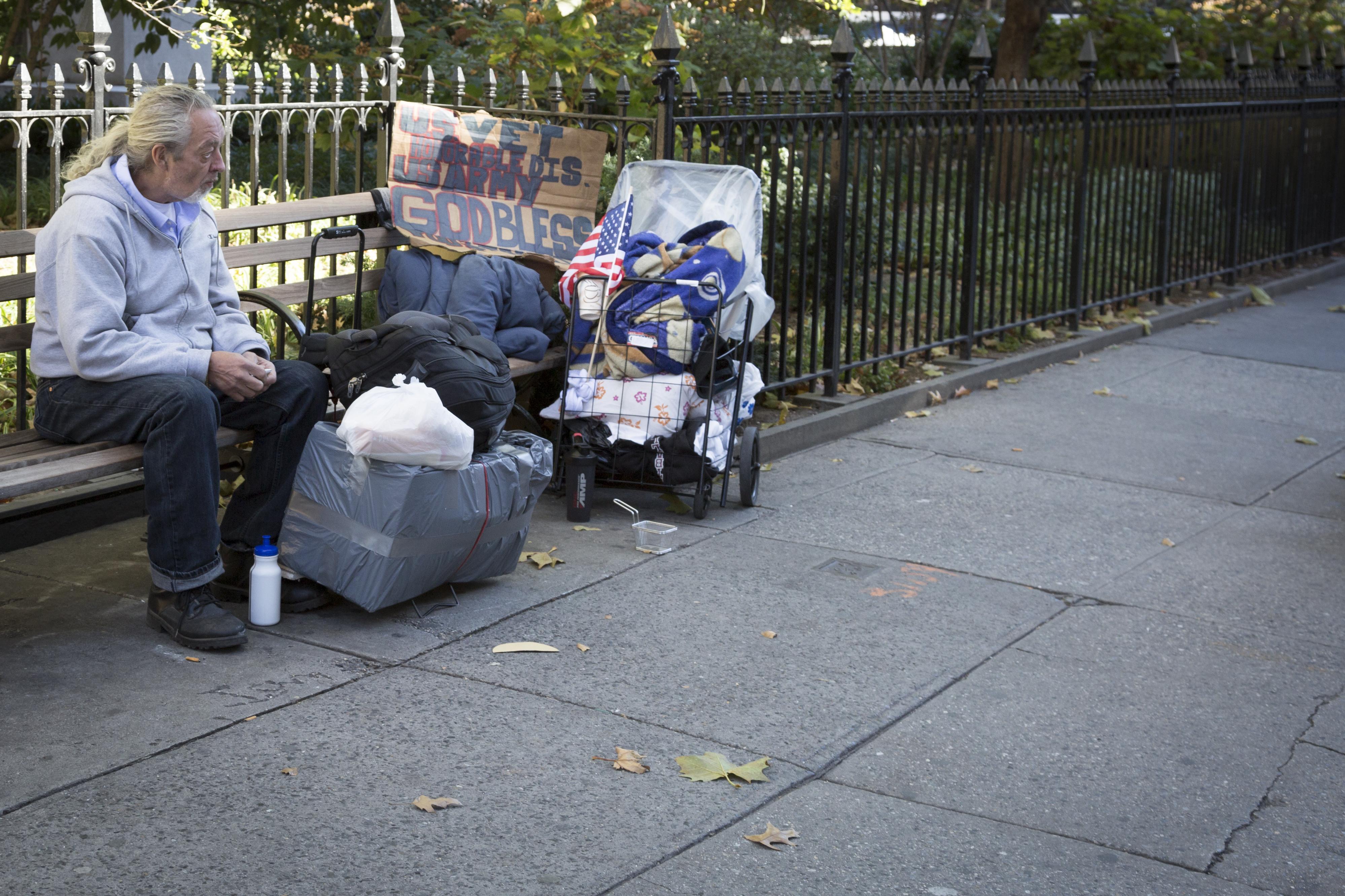 Homeless veteran. Shutterstock