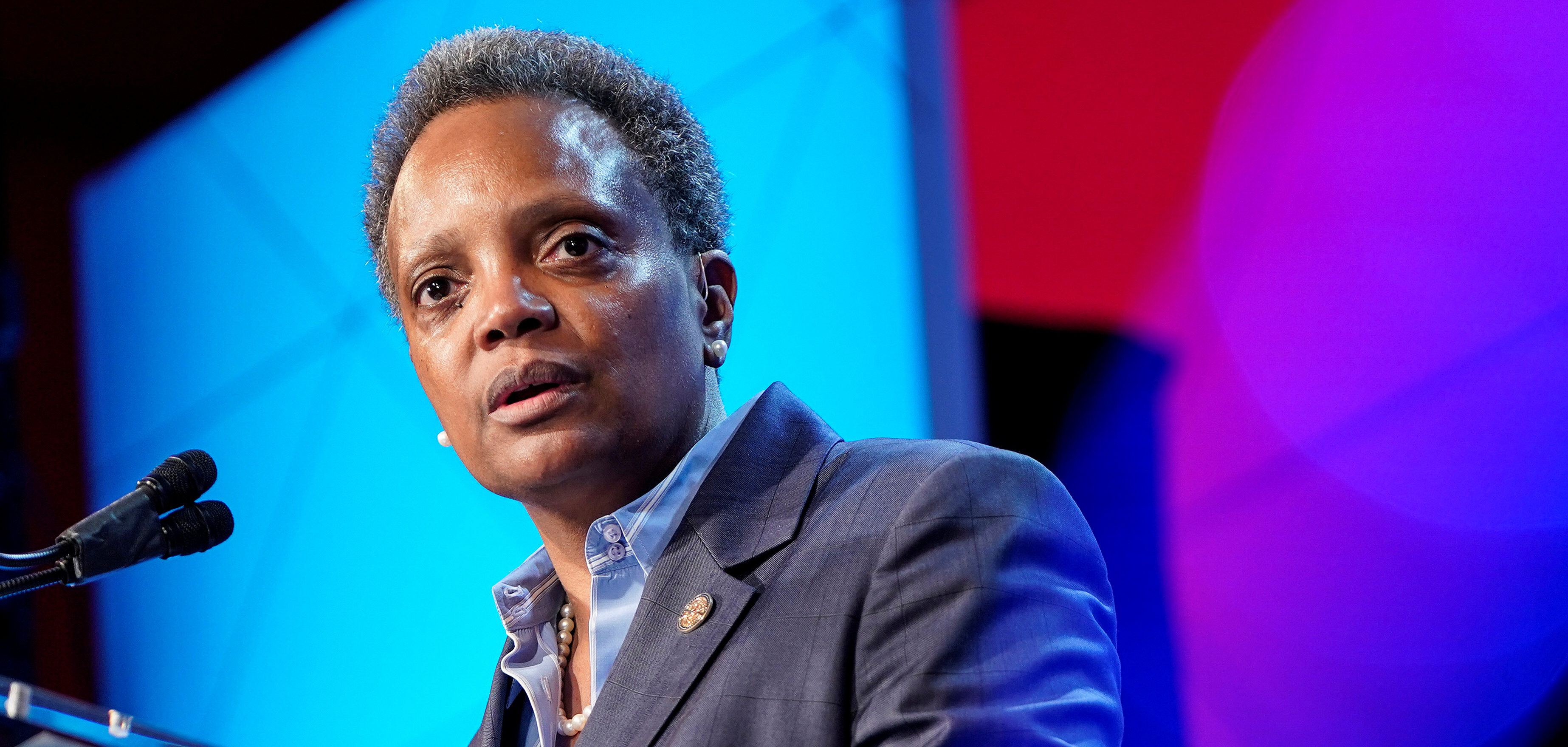 Mayor of Chicago Lori Lightfoot speaks at the U.S. Conference of Mayors 88th Winter Meeting in Washington, U.S., January 23, 2020. REUTERS/Joshua Roberts