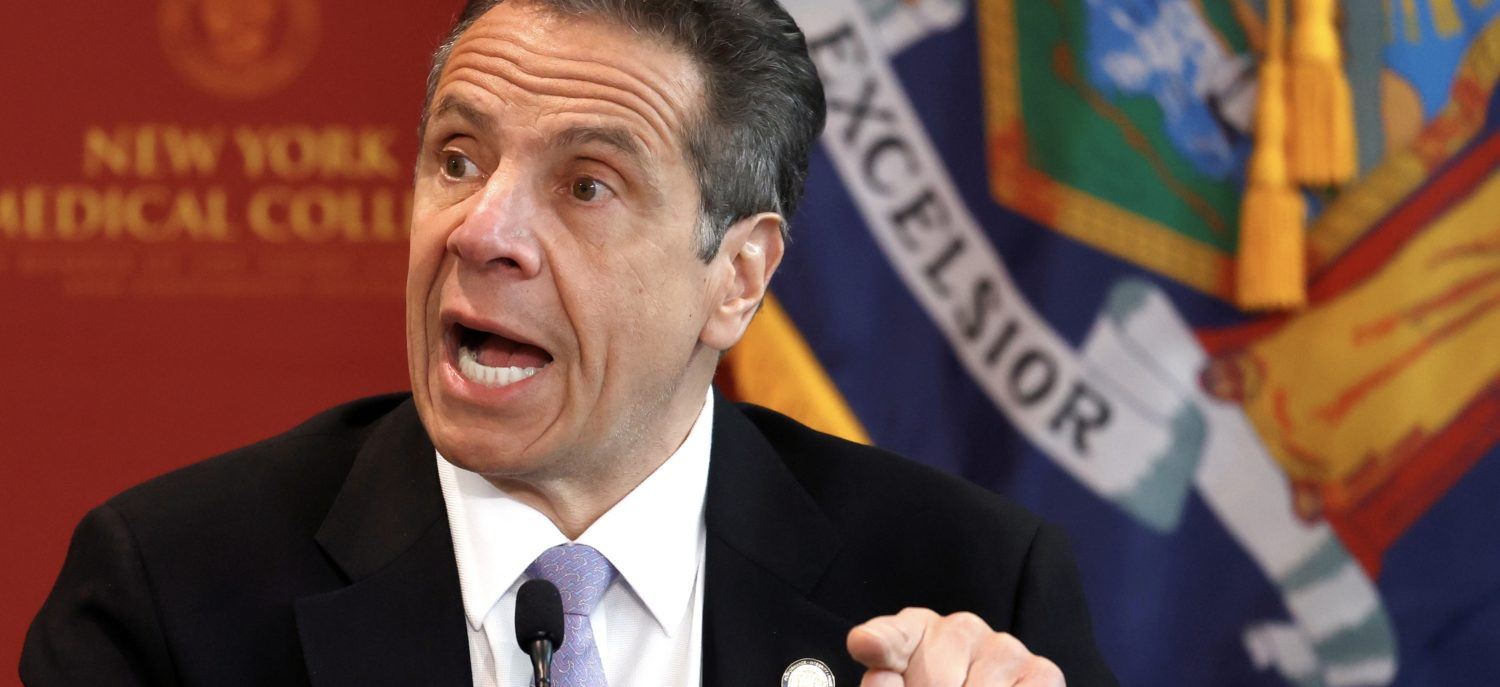 FILE PHOTO: New York Governor Andrew Cuomo holds his daily briefing at New York Medical College during the outbreak of the coronavirus disease (COVID-19) in Valhalla, New York, U.S., May 7, 2020. REUTERS/Mike Segar/File Photo