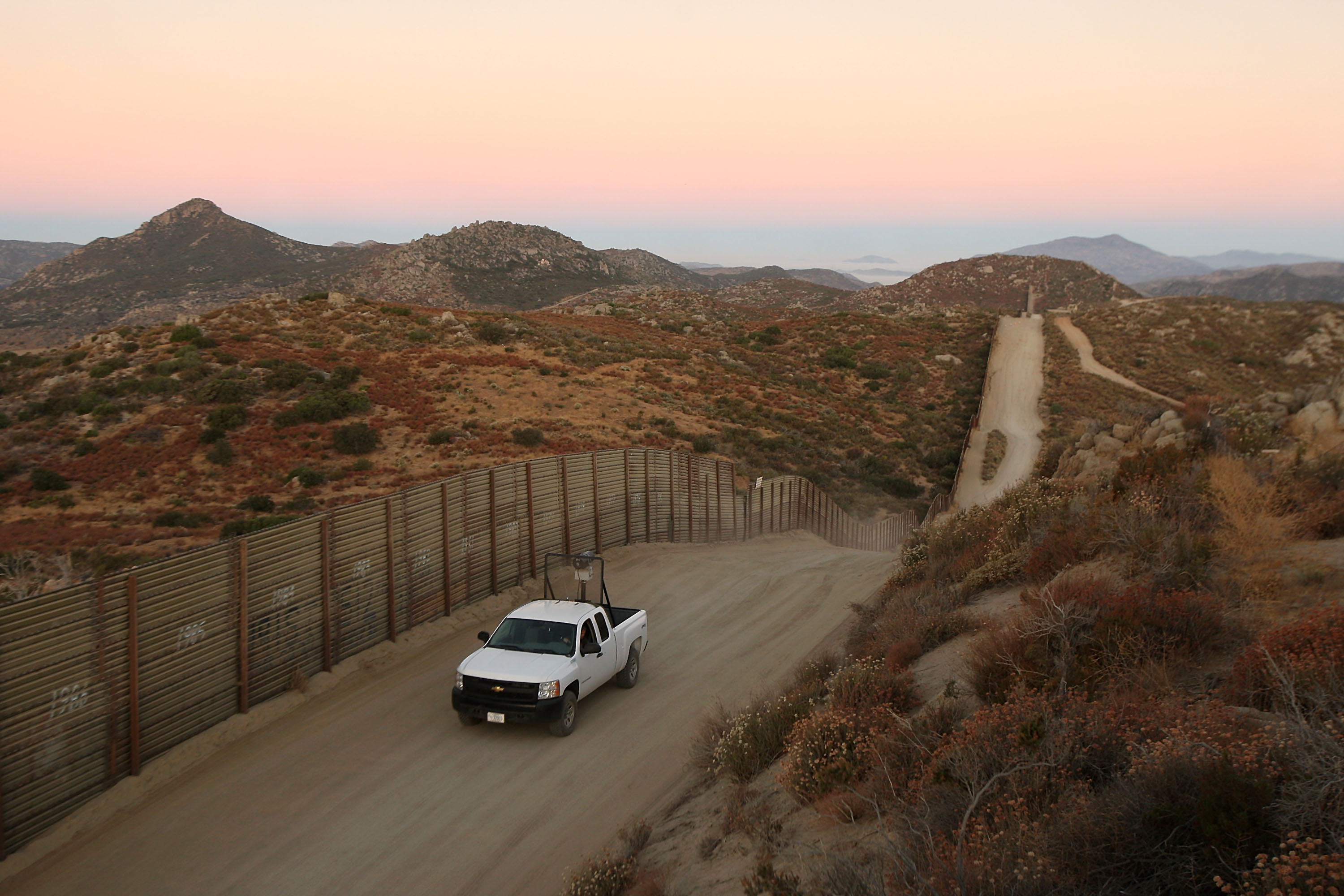 Tension Rise On Mexican Border After Border Patrol Agent Slain Last Week. (Photo by David McNew/Getty Images)
