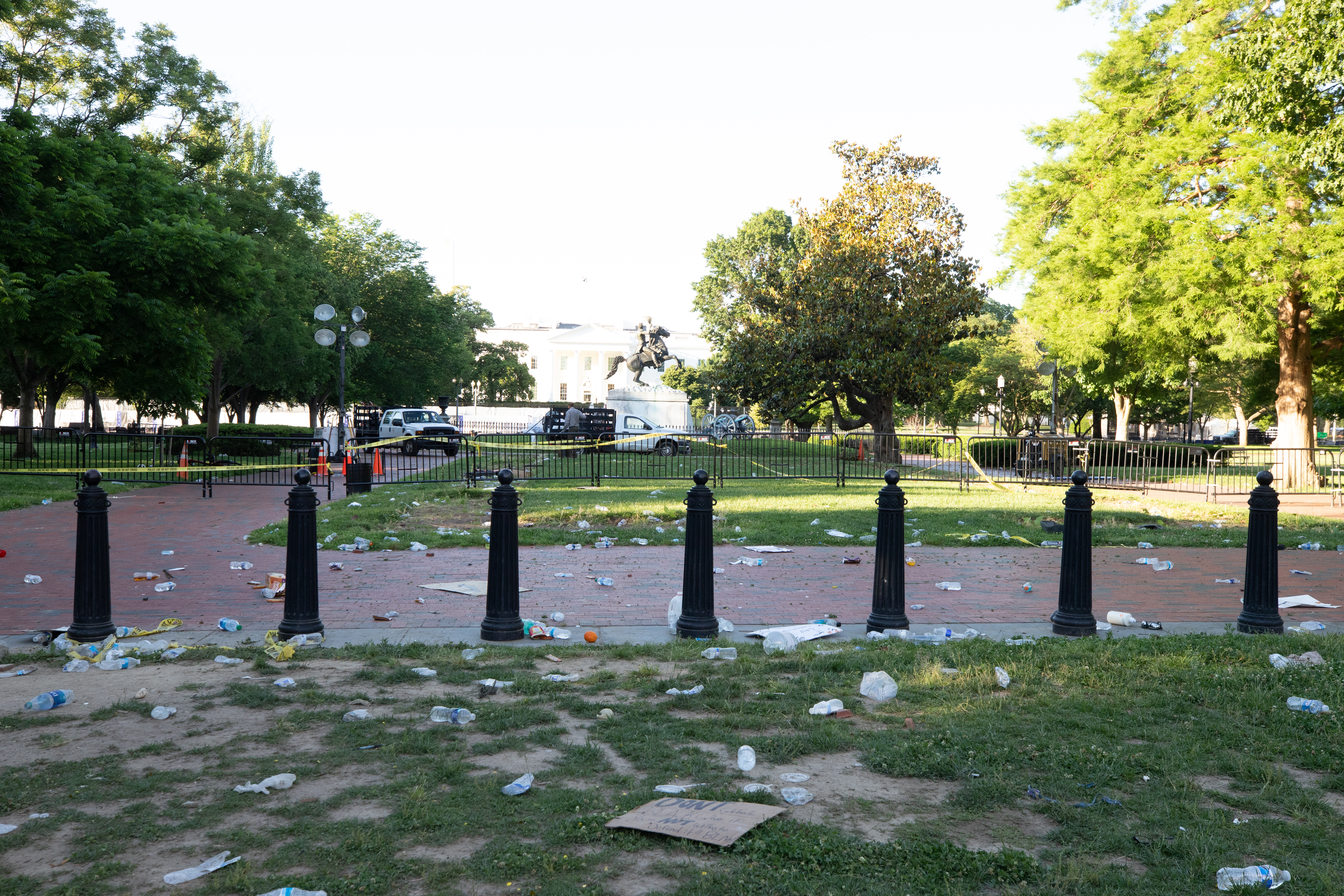 Lafayette Square park from H st. NW. (Photo: Kaylee C. Greenlee for The Daily Caller)