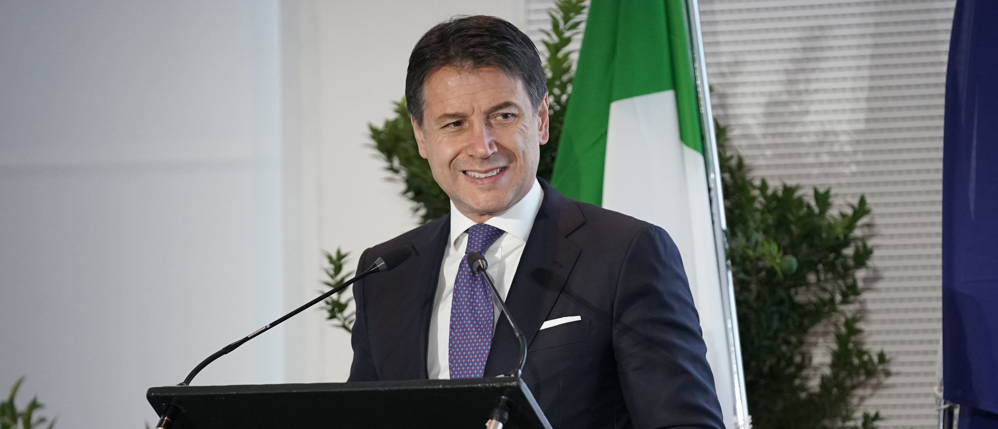 MILAN, ITALY - NOVEMBER 21: Italian Prime Minister Giuseppe Conte attends the World Forum On Urban Forests Calling 2019at Triennale di Milano on November 21, 2019 in Milan, Italy. (Photo by Vittorio Zunino Celotto/Getty Images)