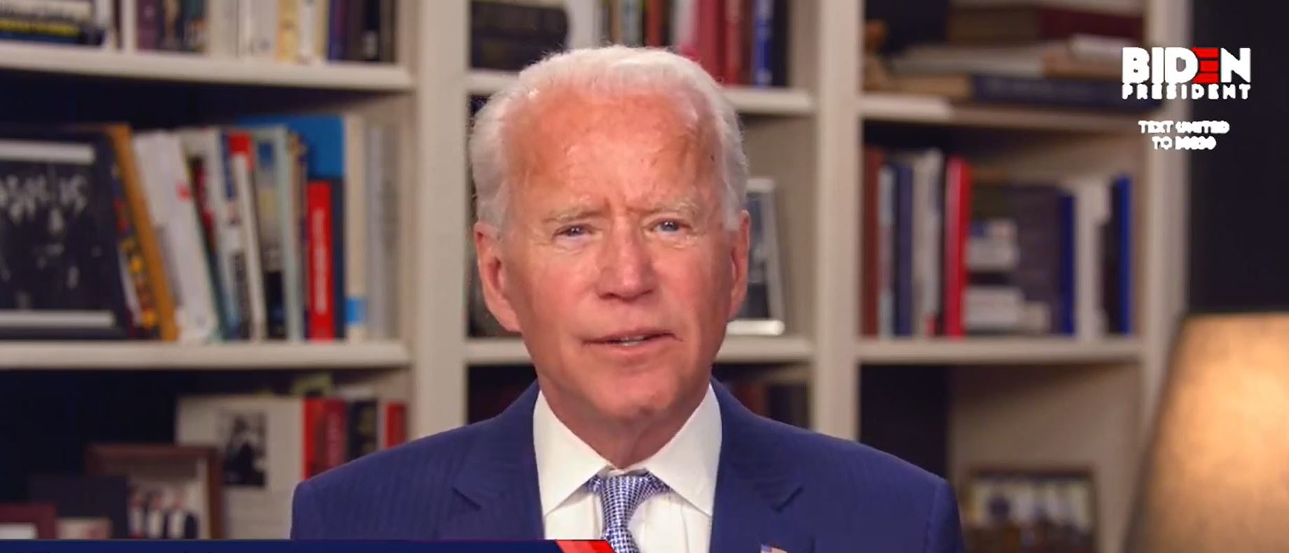 In this screengrab from Joebiden.com , Democratic presidential candidate and former U.S. Vice President Joe Biden speaks during a Coronavirus Virtual Town Hall from his home on April 08, 2020 in Wilmington, Delaware. (JoeBiden.com via Getty Images)