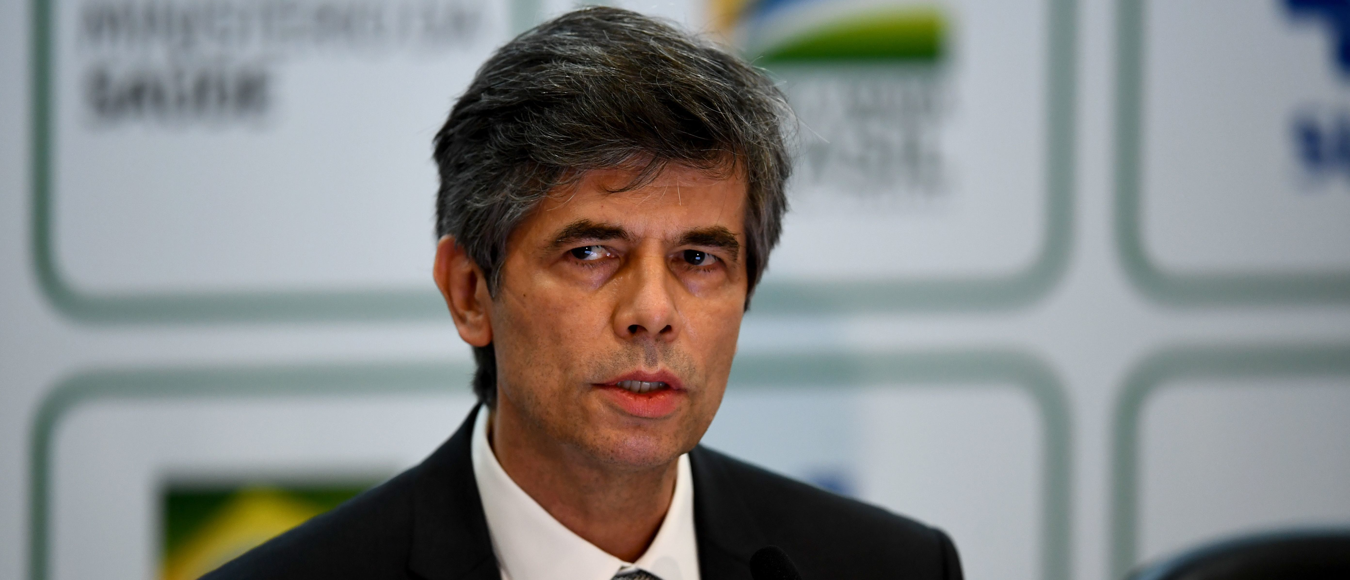 Brazil's outgoing Health Minister Nelson Teich speaks during a press conference in Brasilia, Brazil, on May 15, 2020. - Teich resigned Friday over what a ministry official said was
