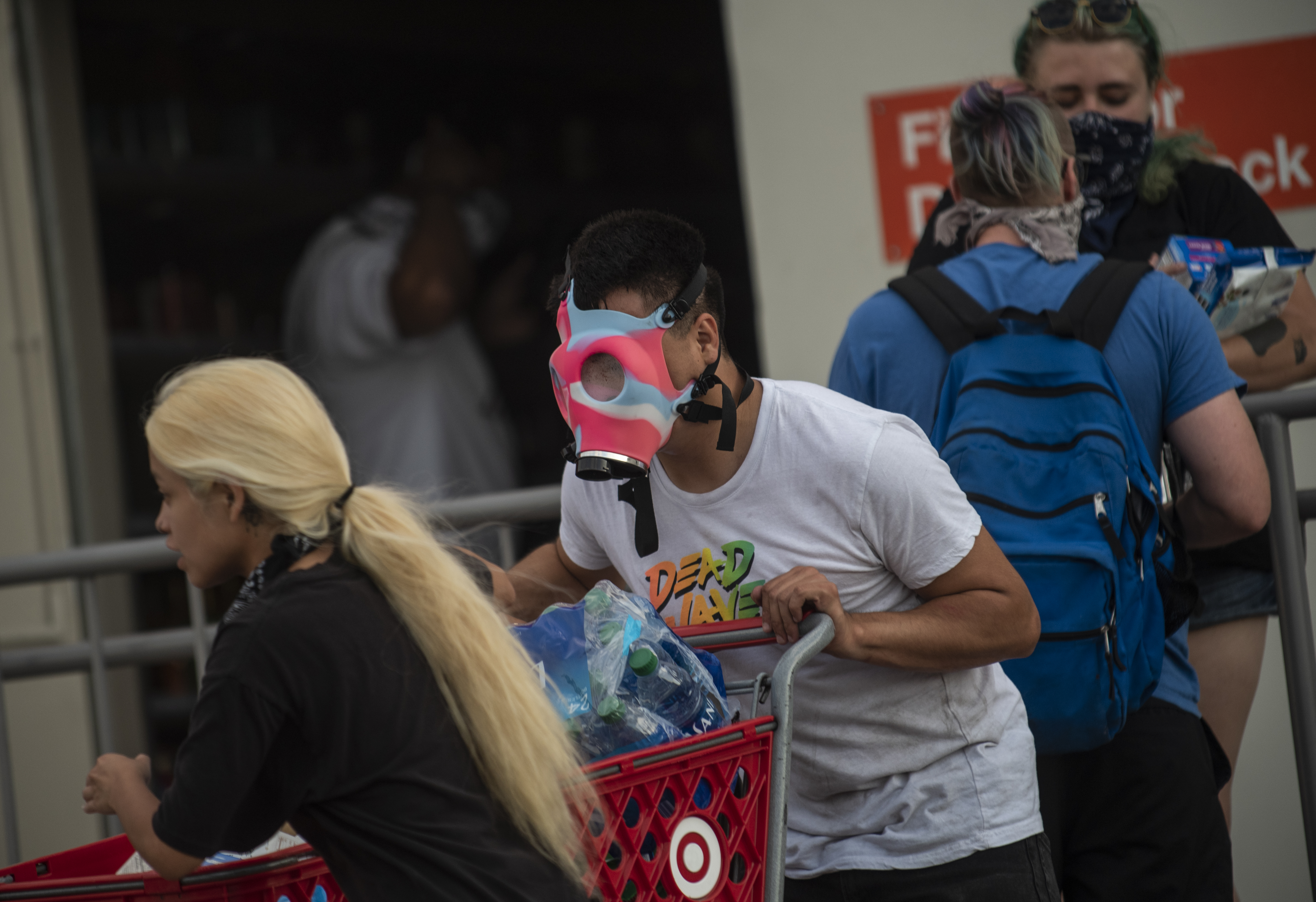 A view outside a Target store on May 27, 2020 in Minneapolis, Minnesota. (Stephen Maturen/Getty Images)