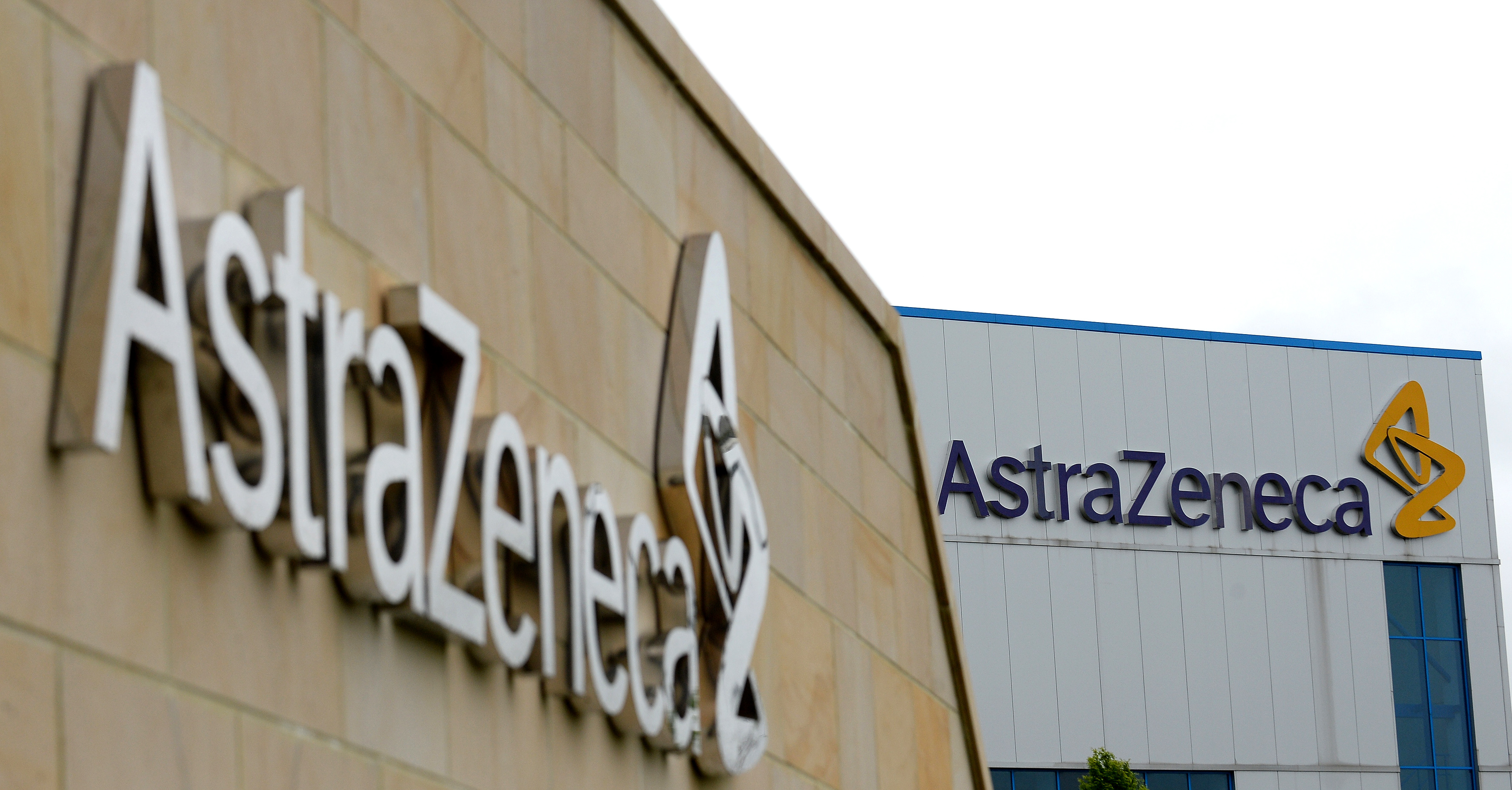A picture shows British pharmaceutical company AstraZeneca's manufacturing site in Macclesfield, northwest England, on May 8, 2014. British drugmaker AstraZeneca said it was targeting annual revenues of more than $45 billion (32 billion euros) by 2023, upping its defence against a takeover bid from US rival Pfizer. (Photo by Andrew YATES / AFP via Getty Images)