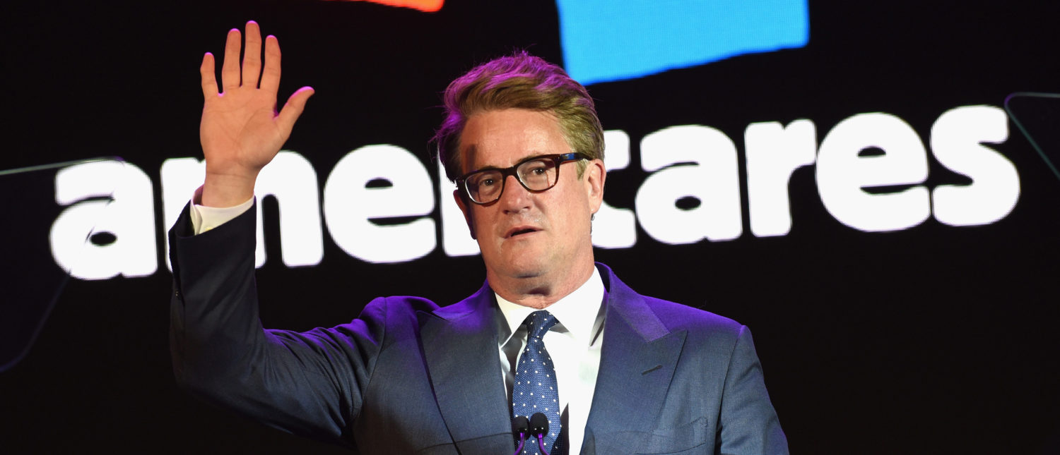 Co-host Joe Scarborough speaks onstage during the 2017 Americares Airlift Benefit at Westchester County Airport on October 14, 2017 in Armonk, New York. (Bryan Bedder/Getty Images for Americares)