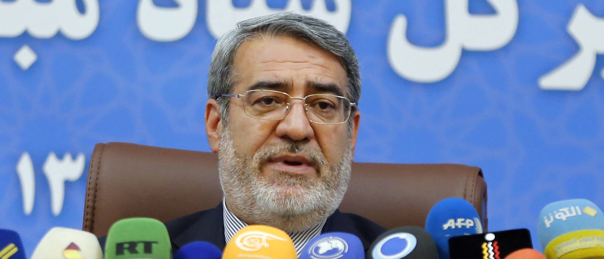 Iran's Interior Minister Abdolreza Rahmani Fazli speaks during a press conference in the capital Tehran on July 1, 2018. (Photo by ATTA KENARE / AFP) (Photo credit should read ATTA KENARE/AFP via Getty Images)