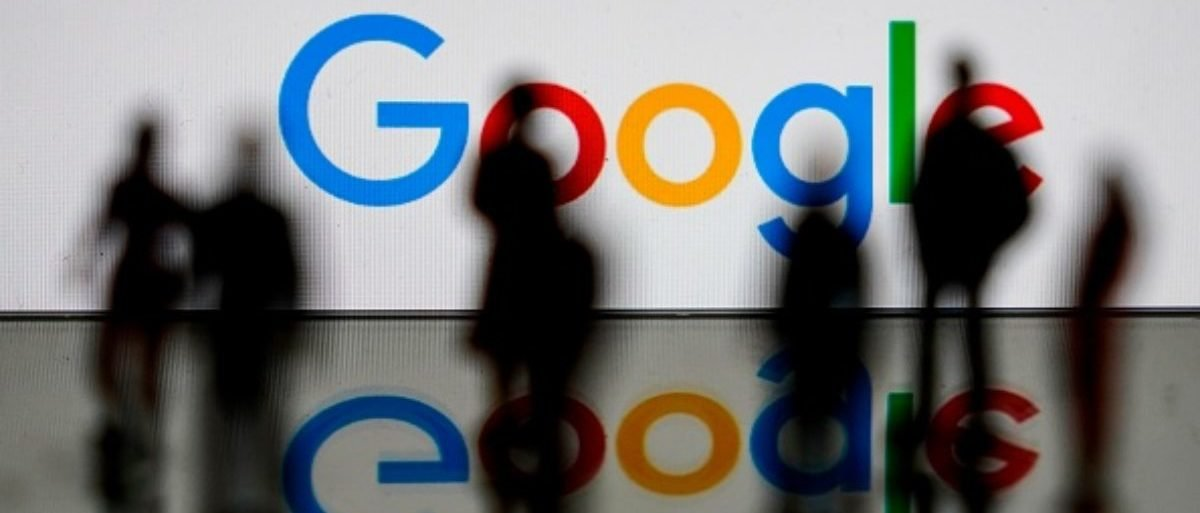 This illustration picture shows the U.S. multinational technology and Internet-related services company Google logo on Feb. 14, 2020 in Brussels. (Photo by Kenzo TRIBOUILLARD / AFP)