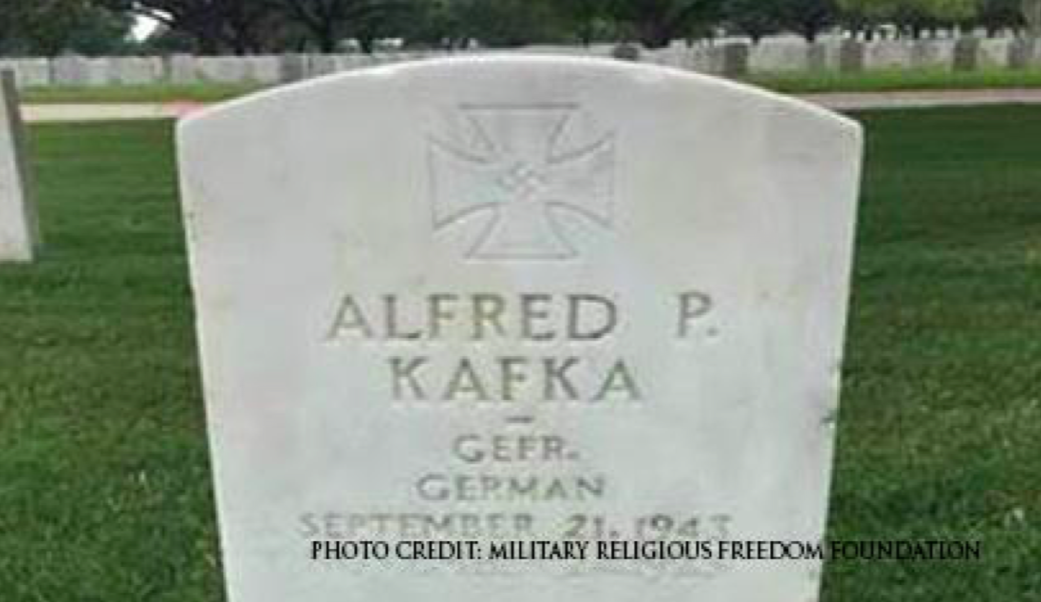 Nazi gravestone. Credit: Military Religious Freedom Foundation (MRFF).