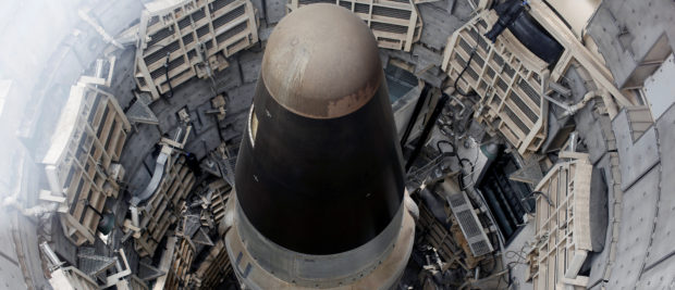 The Titan Missile, shown from above during a tour of the 103-foot Titan II Intercontinental Ballistic Missile (ICBM) site which was decommissioned in 1982, at the Titan Missile Museum in Sahuarita, Arizona, U.S., February 2, 2019. REUTERS/Nicole Neri
