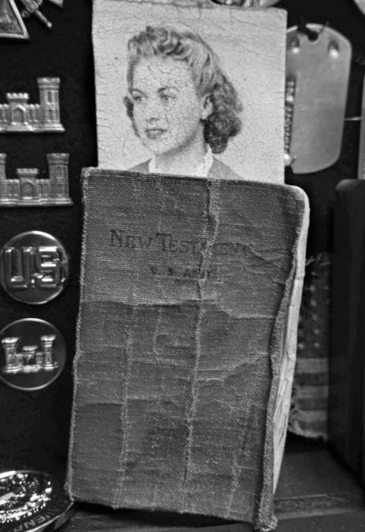 A photo of Langrehr's Bible and his future wife, Arlene. (Photo provided to the Daily Caller by Henry Langrehr)