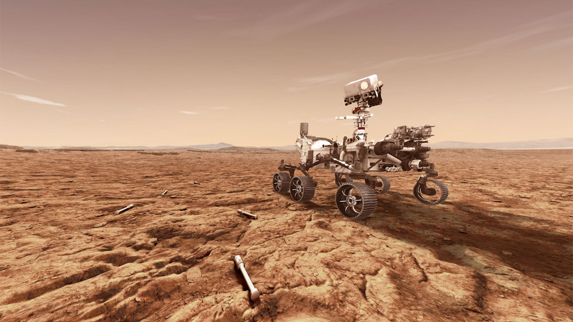A rendering of NASA's Mars 2020 rover, which will store rock samples during future missions. (Photo: NASA)