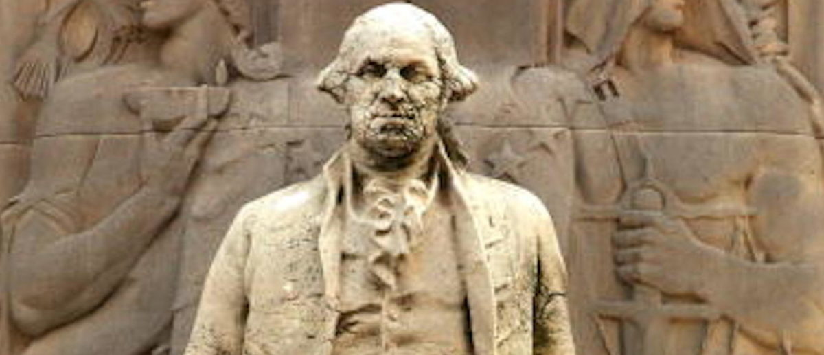 George Washington Monument Defaced In New York City