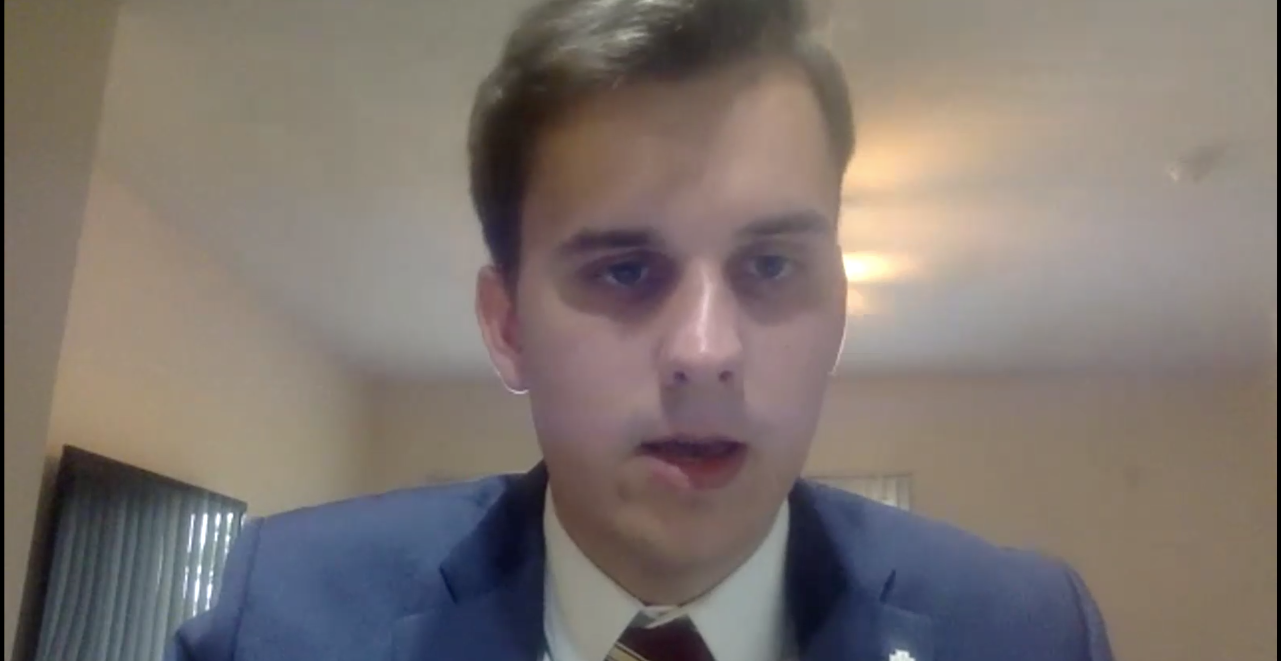 Florida State University Senate president Jack Denton speaks during a June 5 emergency meeting called to determine if he would keep his position as president. (Photo: Florida State University/Screenshot/Zoom)