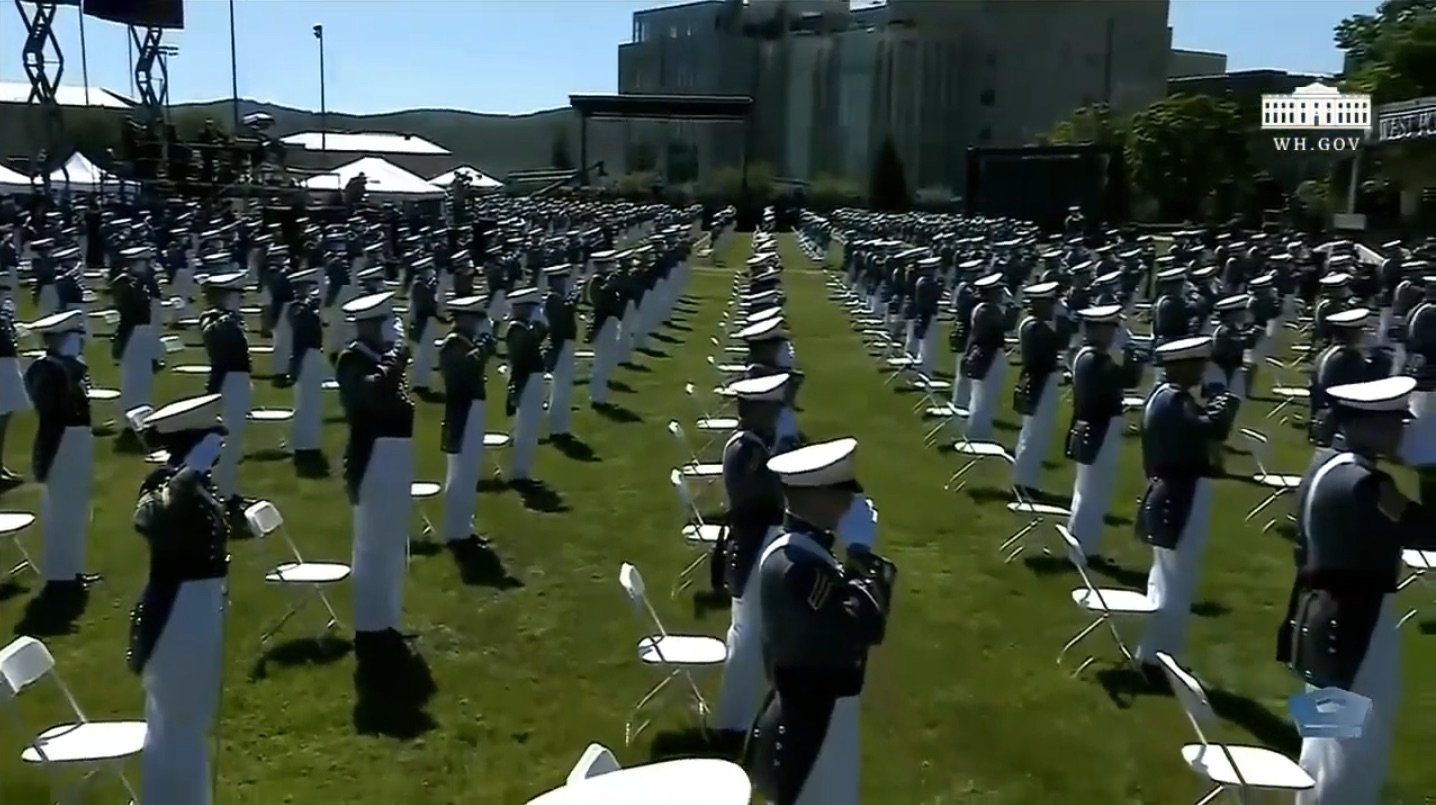 Graduates at West Point. (Screenshot/YouTube/White House)