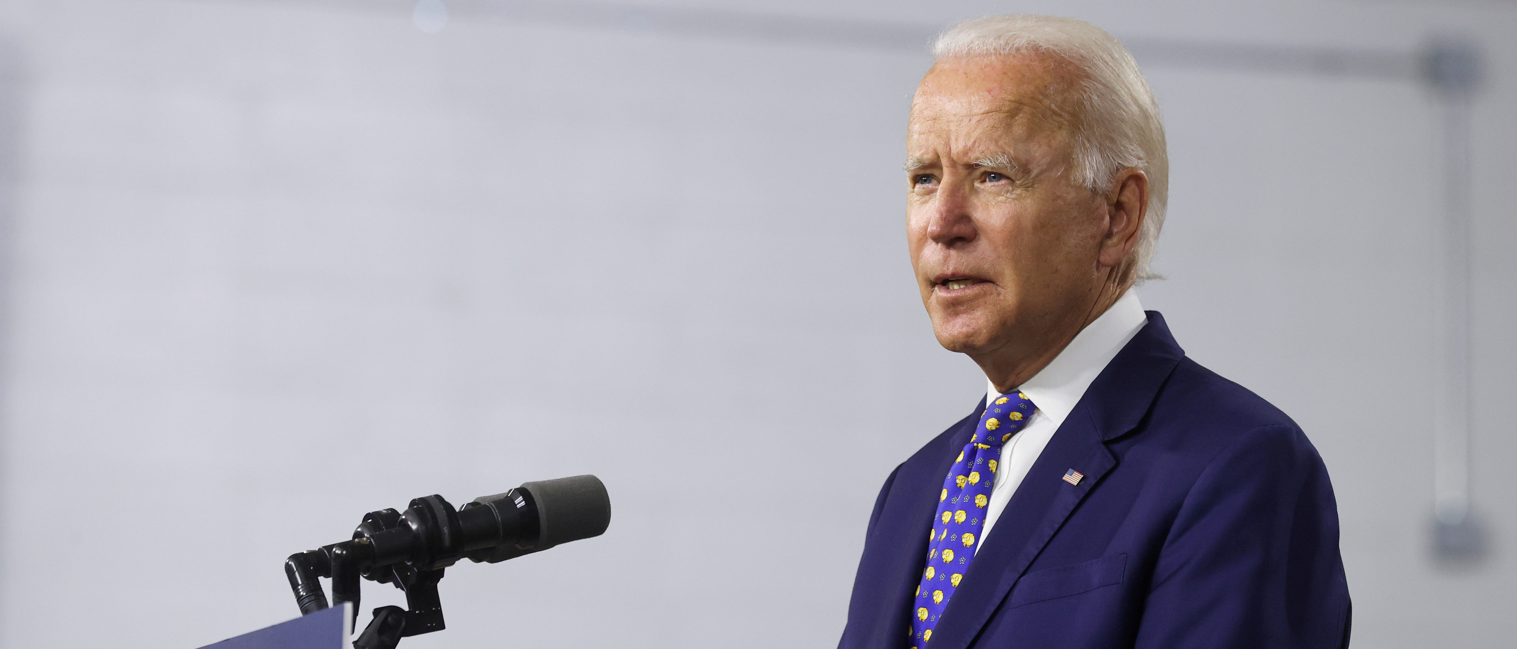 Democratic presidential candidate and former Vice President Joe Biden speaks about his plans to combat racial inequality at a campaign event in Wilmington, Delaware, U.S., July 28, 2020. REUTERS/Jonathan Ernst/File Photo