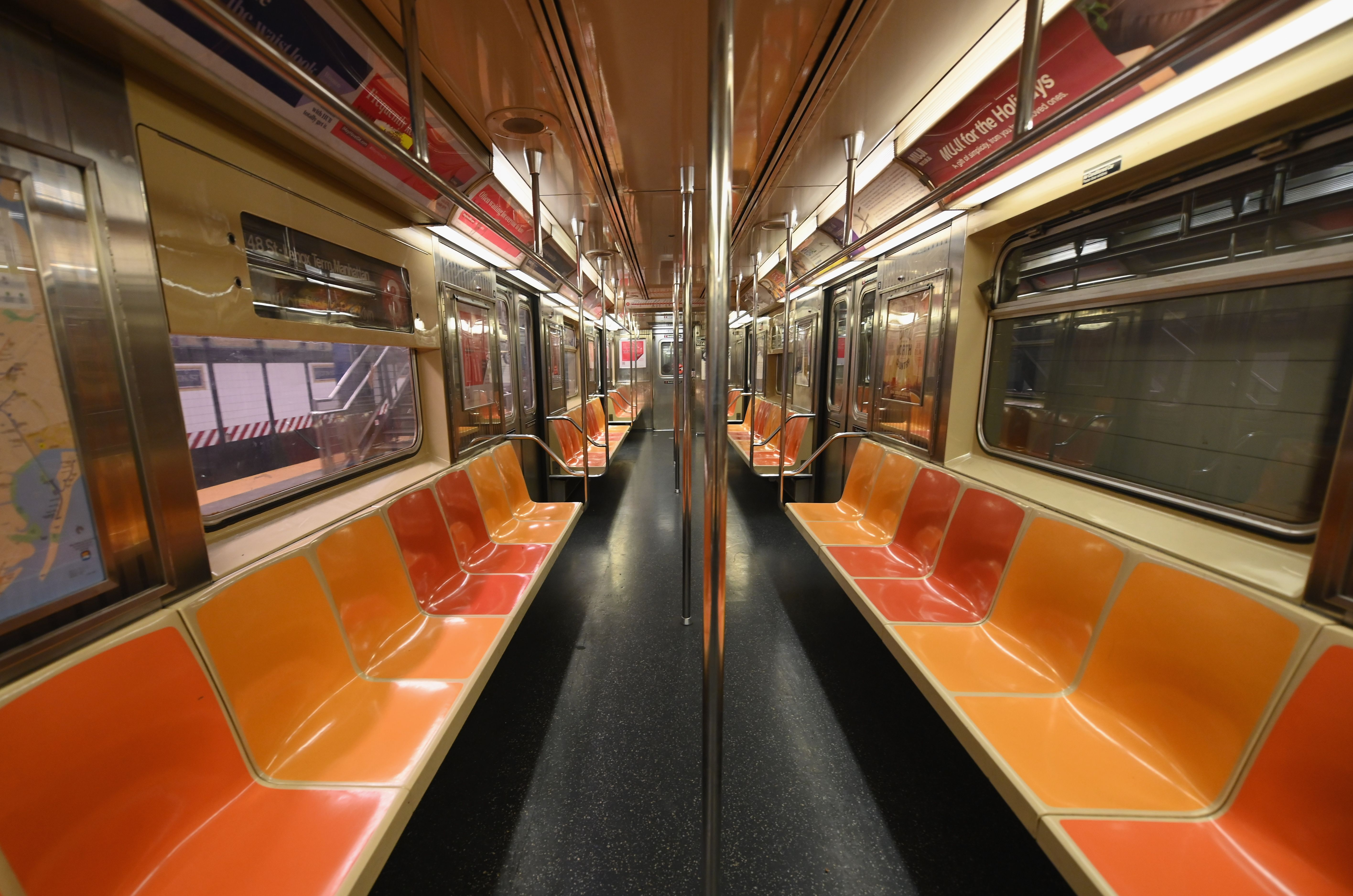 An empty New York Subway car is seen on March 23, 2020. (Photo: Angela Weiss/AFP via Getty Images)