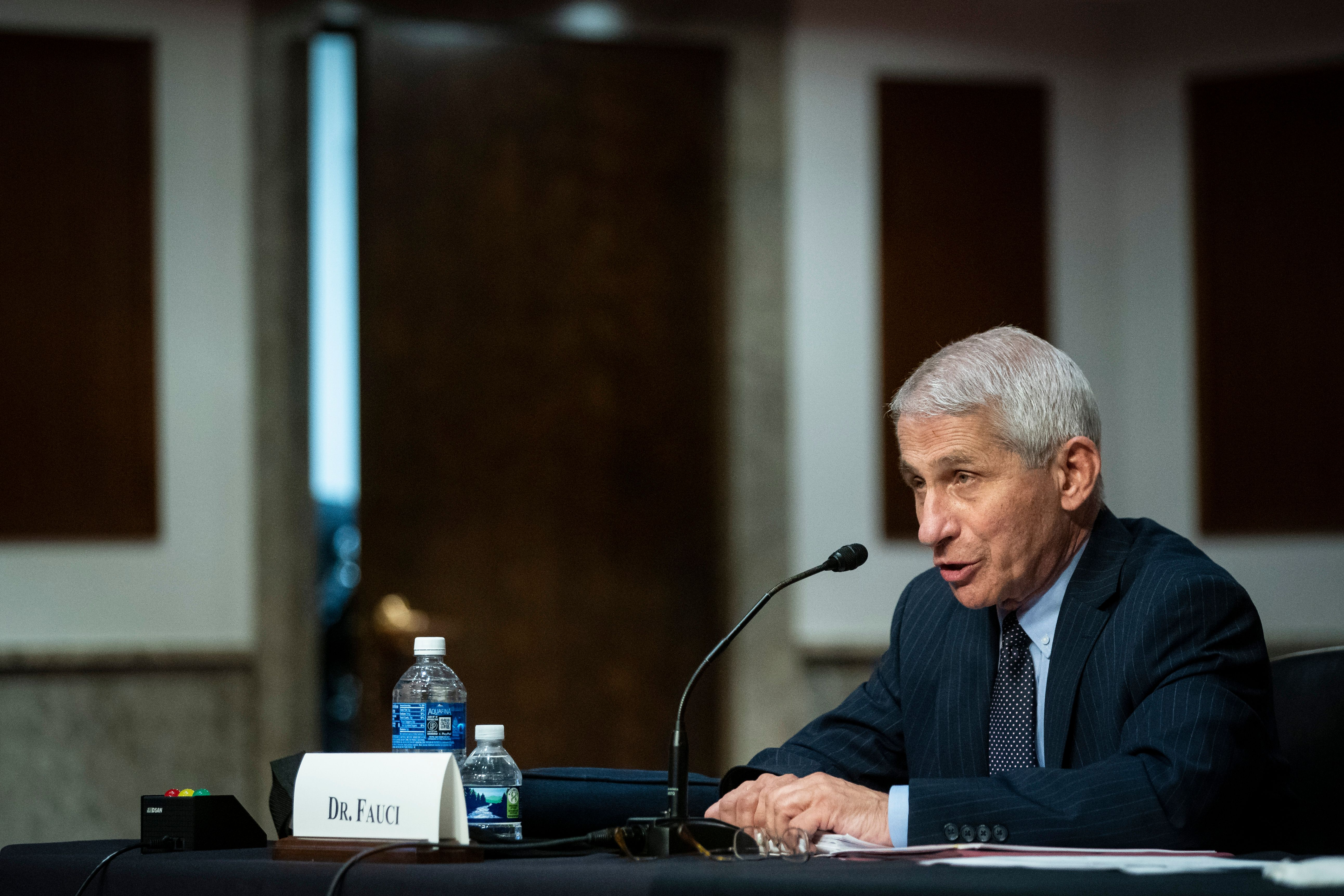 Dr. Anthony Fauci speaks during a hearing on Capitol Hill in in June. (Photo: Al Drago/AFP via Getty Images)