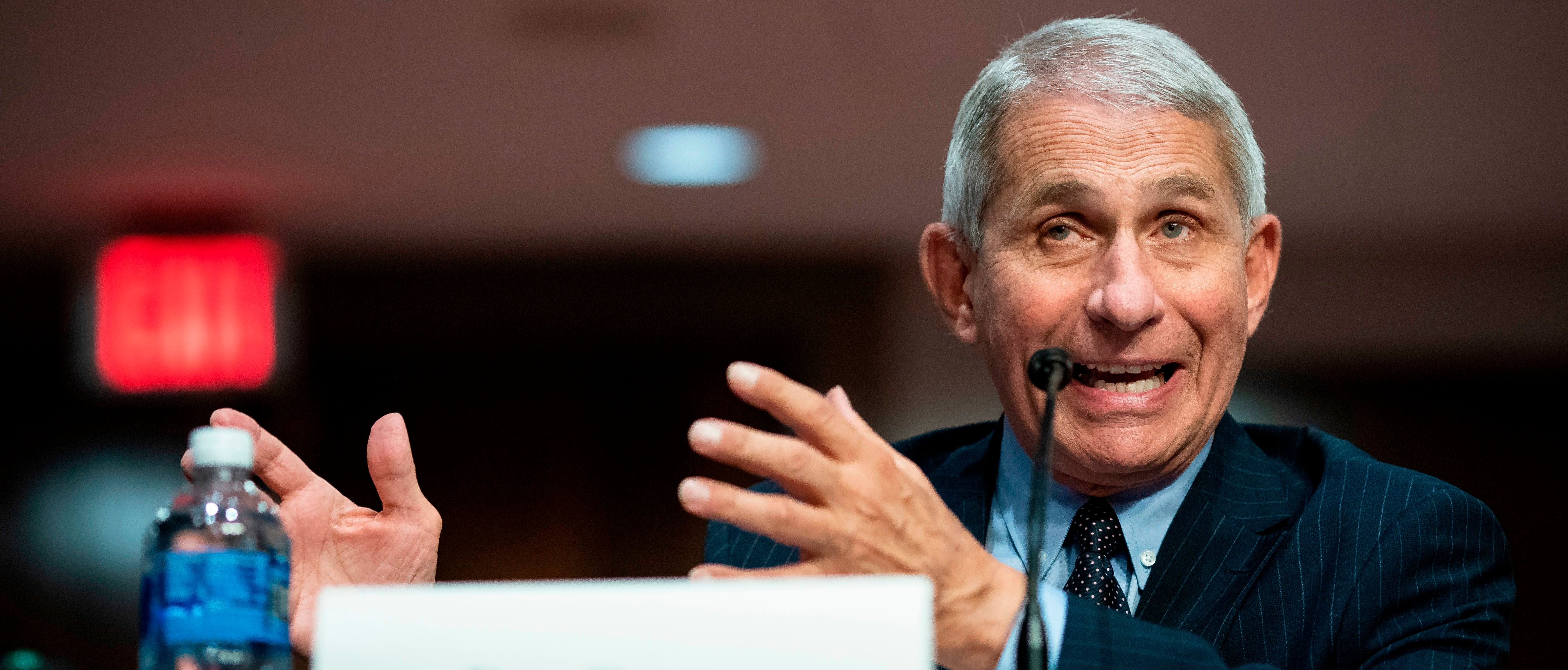 Anthony Fauci, director of the National Institute of Allergy and Infectious Diseases, speaks during a Senate Health, Education, Labor and Pensions Committee hearing in Washington, DC, on June 30, 2020. (Photo: Al Drago/AFP via Getty Images)