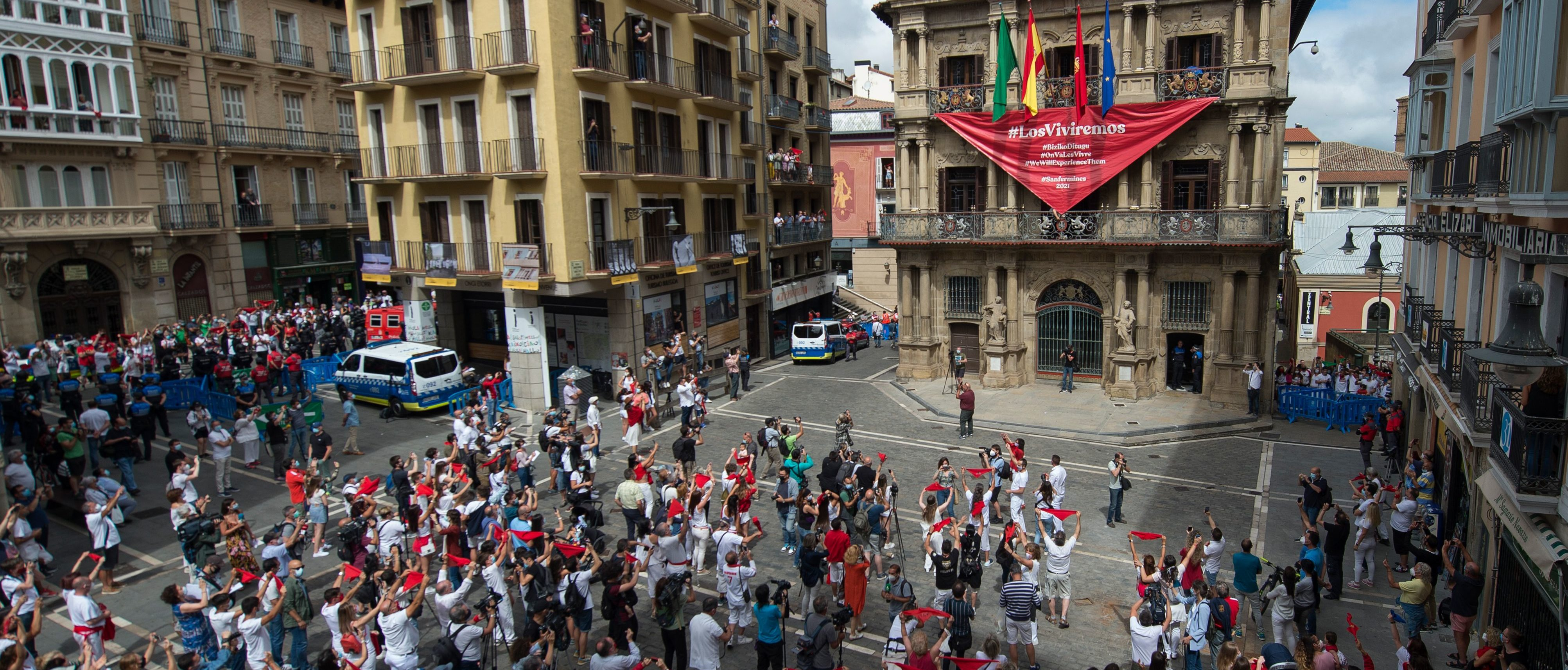 Running Without The Bulls? Hundreds Flock To Pamplona Streets Even After Centuries-Old Tradition Canceled