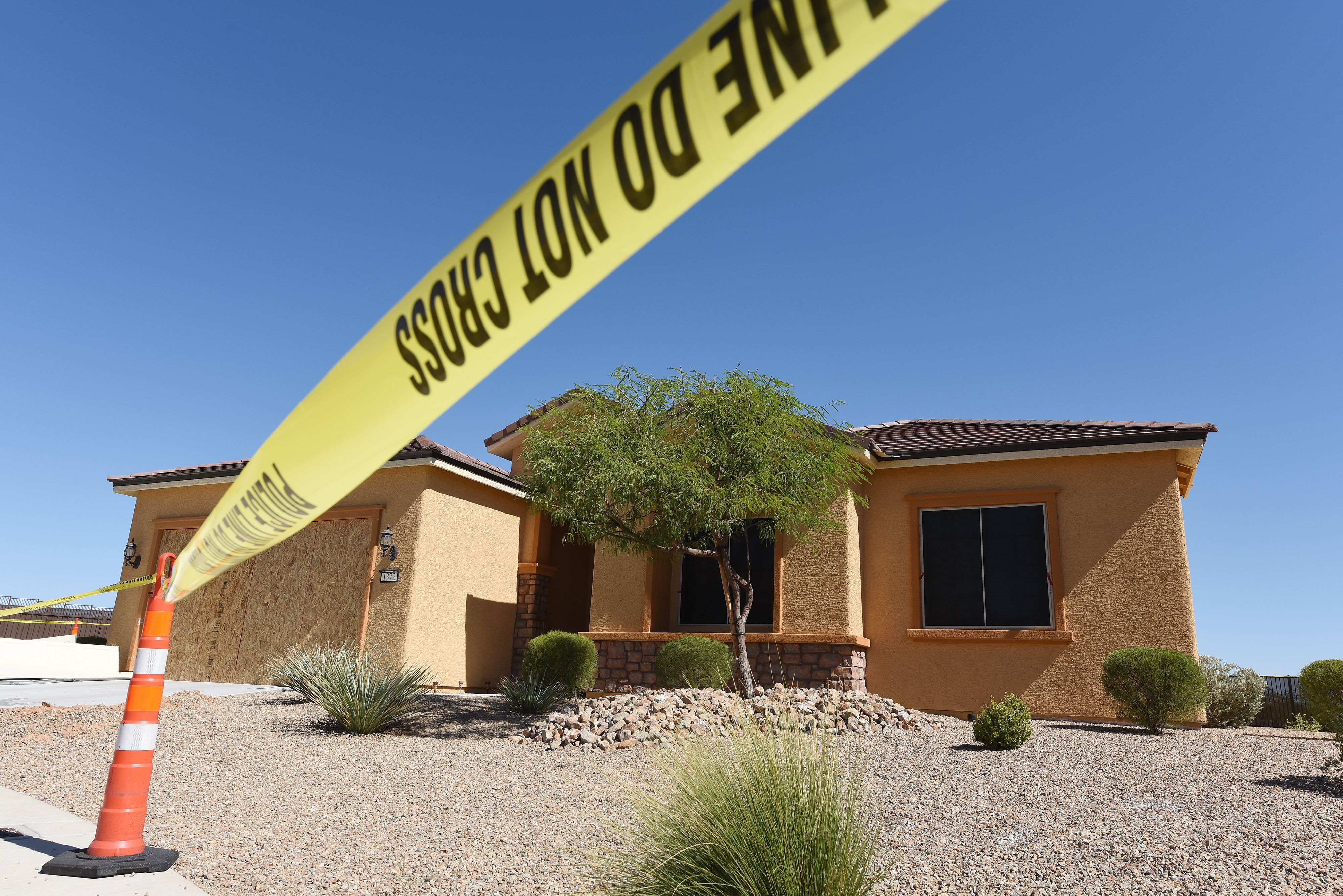 The home of Stephen Paddock is seen in Mesquite, Nevada October 3, 2017.(Photo by ROBYN BECK/AFP via Getty Images)