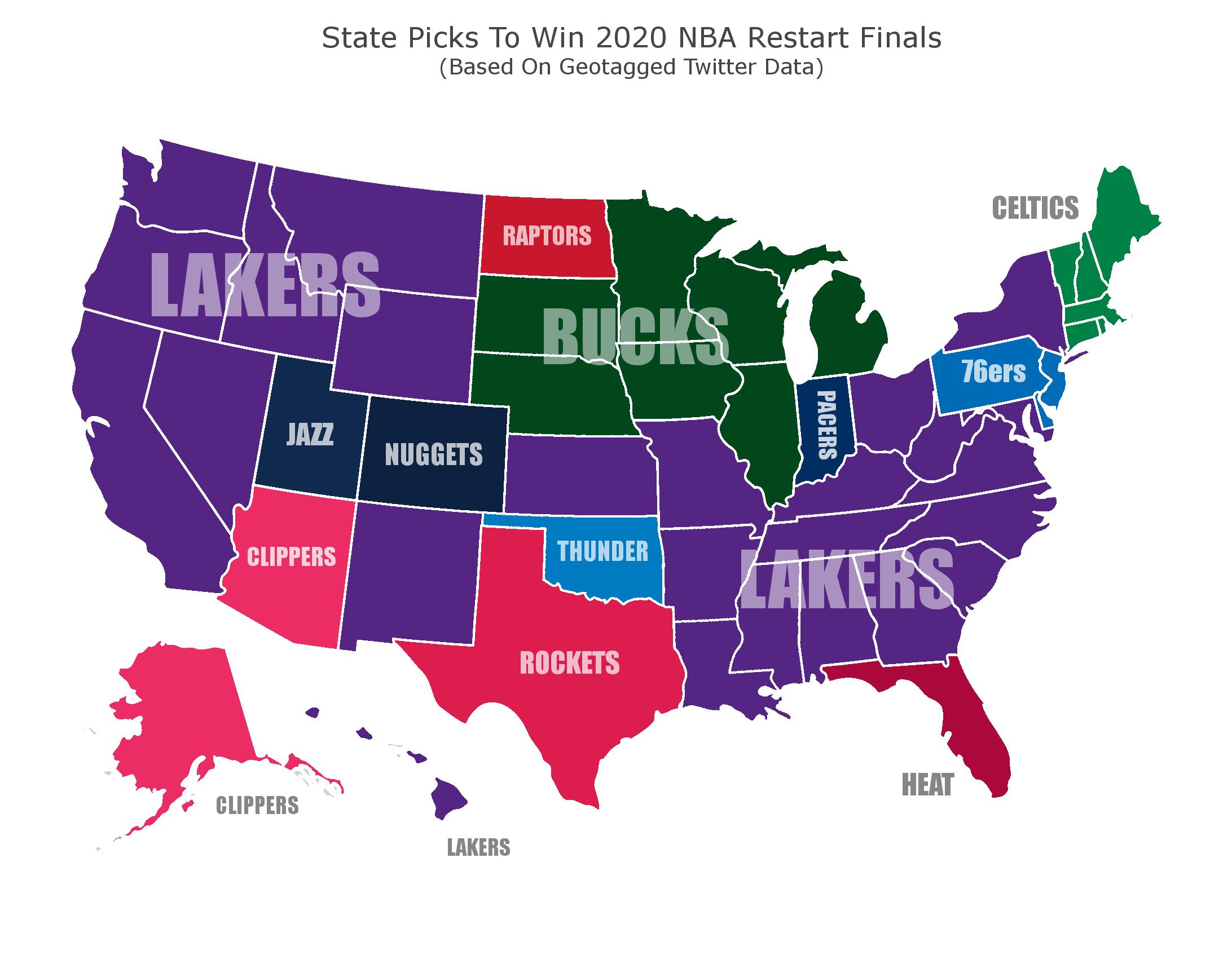 NBA Title Favorites (Credit: SportsInsider.com)